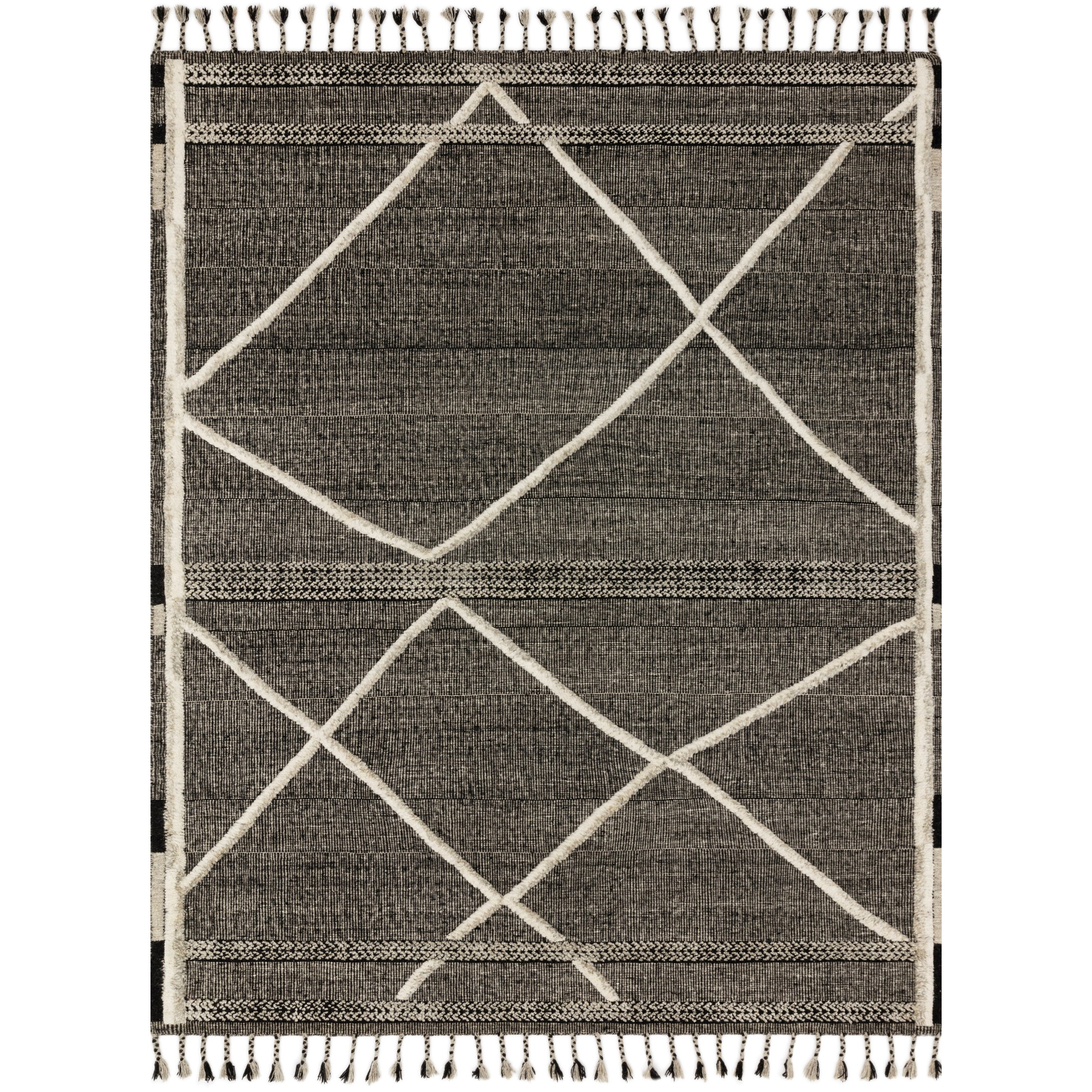 "Iman 5'6"" x 8'6"" Beige / Charcoal Rug by Loloi Rugs at Virginia Furniture Market"