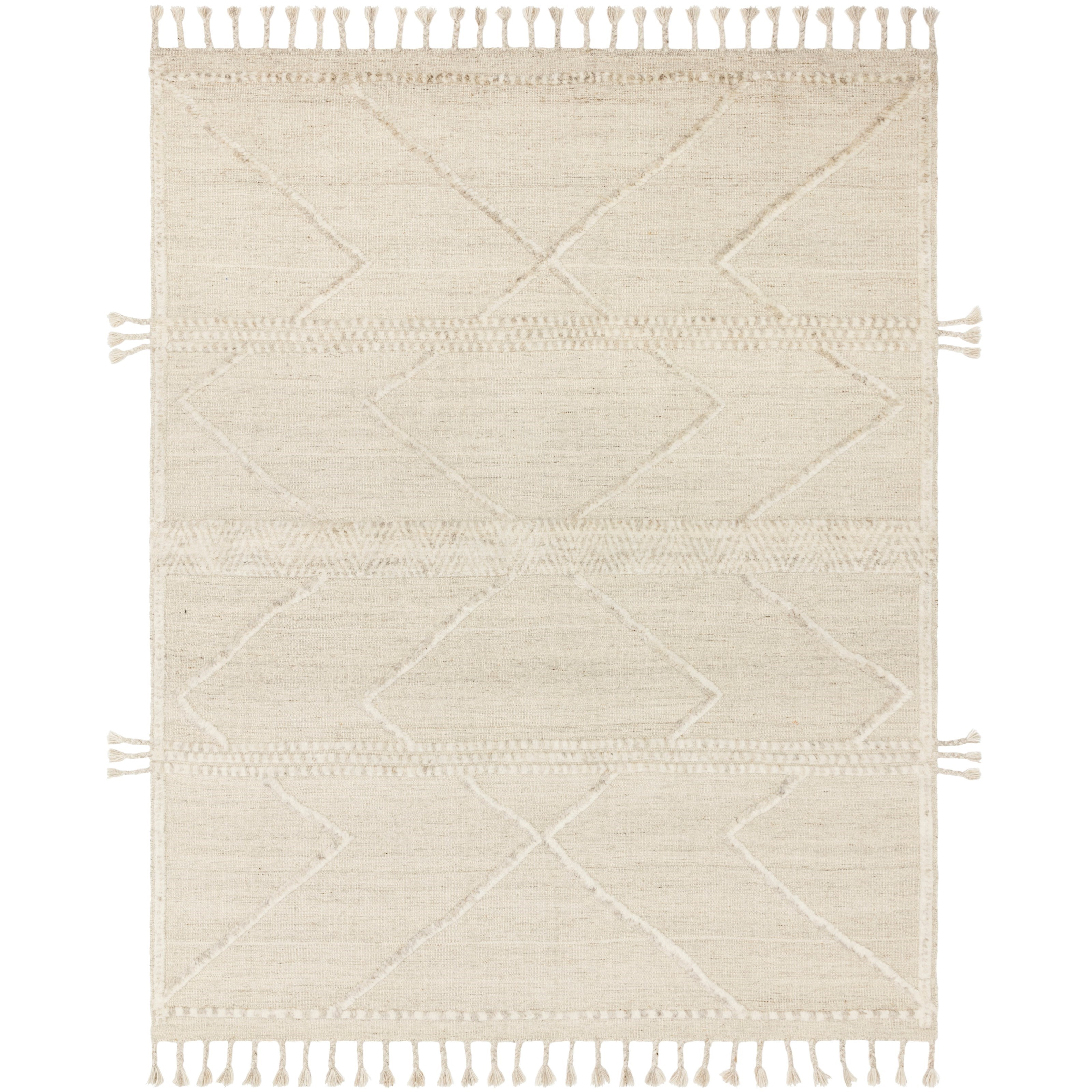 """Iman 4'0"""" x 6'0"""" Beige / Ivory Rug by Loloi Rugs at Virginia Furniture Market"""