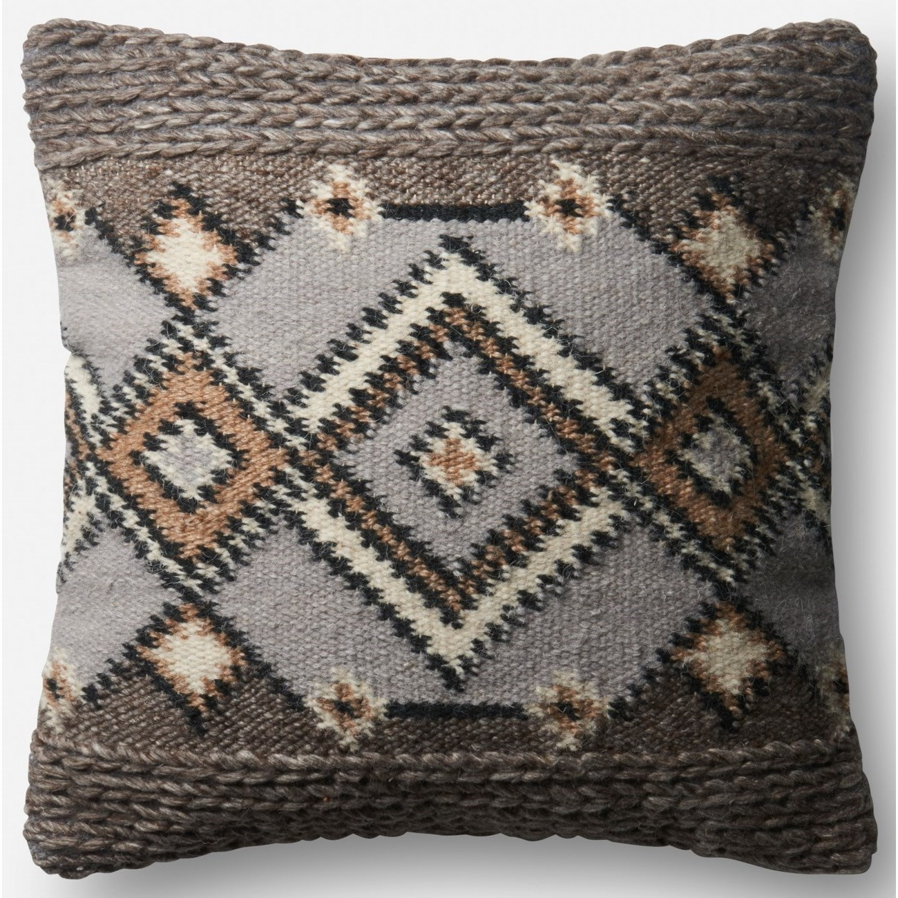 "Indoor/Outdoor Pillows 18"" X 18""  Pillow w/ Down Fill by Loloi Rugs at Sprintz Furniture"