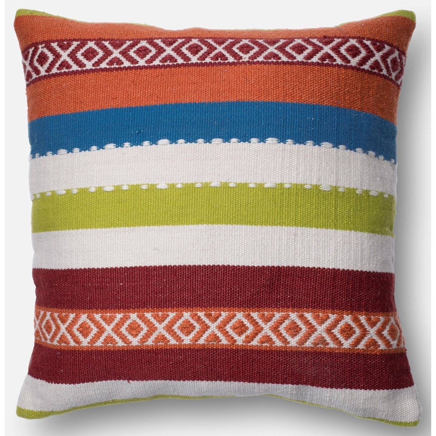 "Indoor/Outdoor Pillows 22"" X 22""  Pillow Cover Only by Loloi Rugs at Sprintz Furniture"