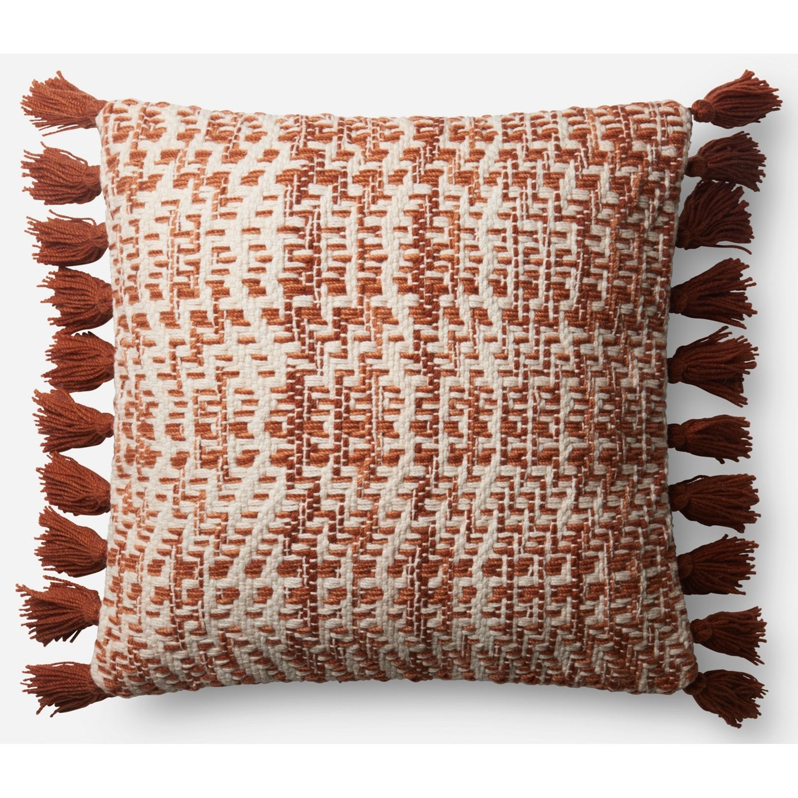 """Indoor/Outdoor Pillows 18"""" X 18"""" Pillow w/ Poly Fill by Loloi Rugs at Virginia Furniture Market"""