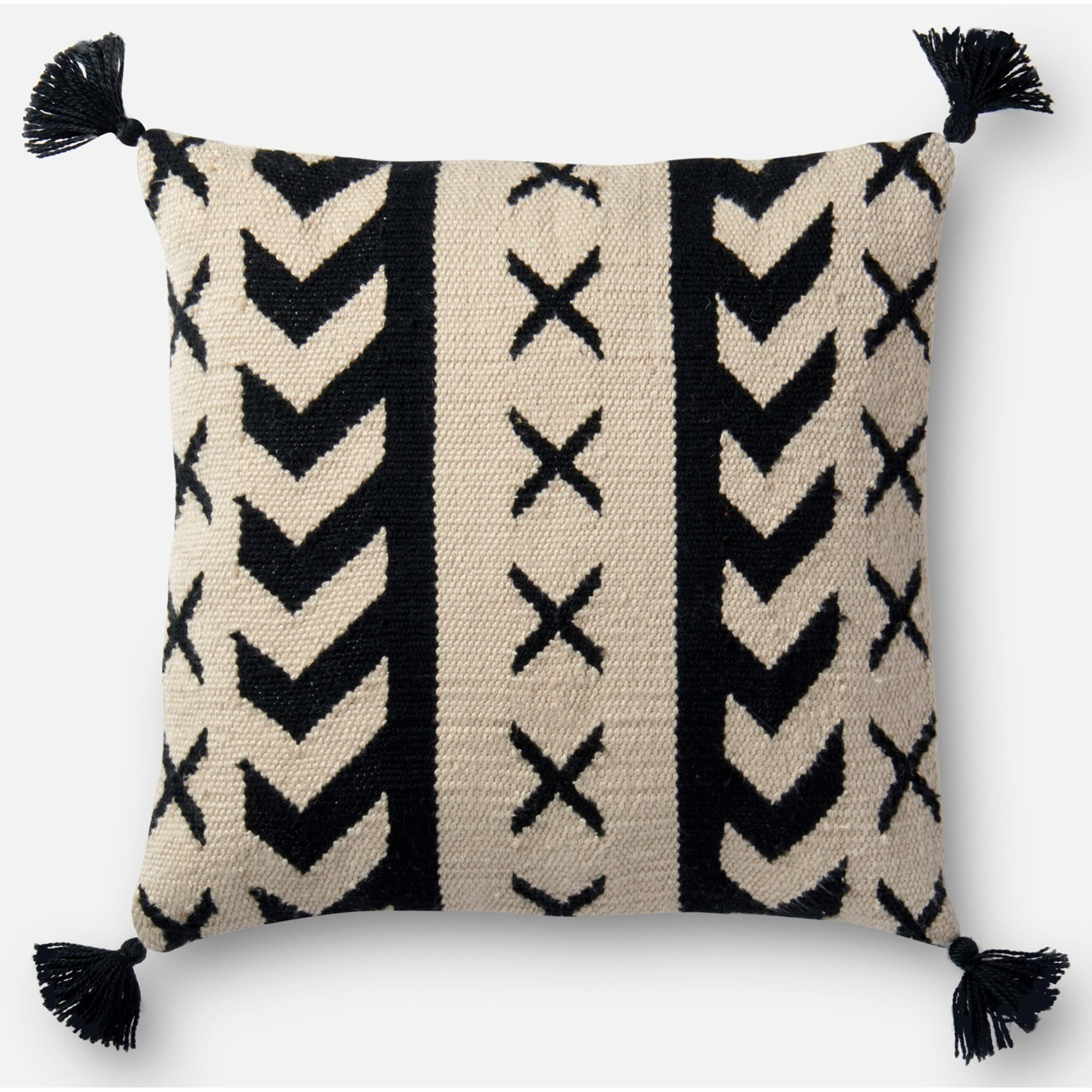 """Indoor/Outdoor 18"""" X 18"""" Down Pillow by Loloi Rugs at Virginia Furniture Market"""