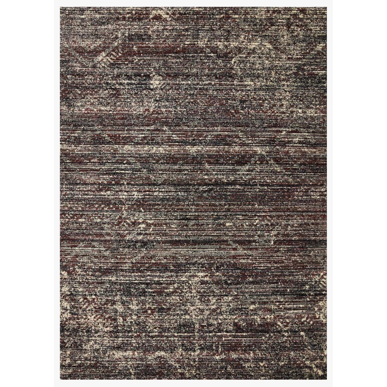 "2'7"" x 10'10"" Midnight / Bordeaux Rug"