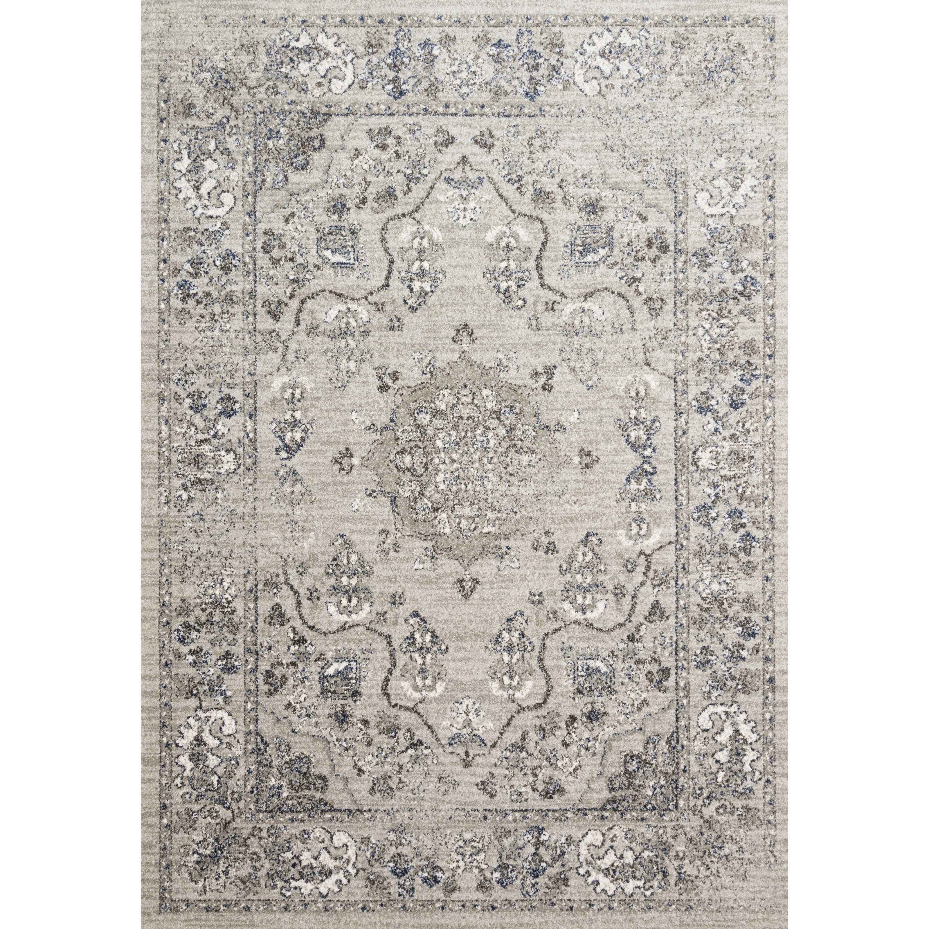 """Joaquin 3'7"""" x 5'7"""" Dove / Grey Rug by Loloi Rugs at Virginia Furniture Market"""