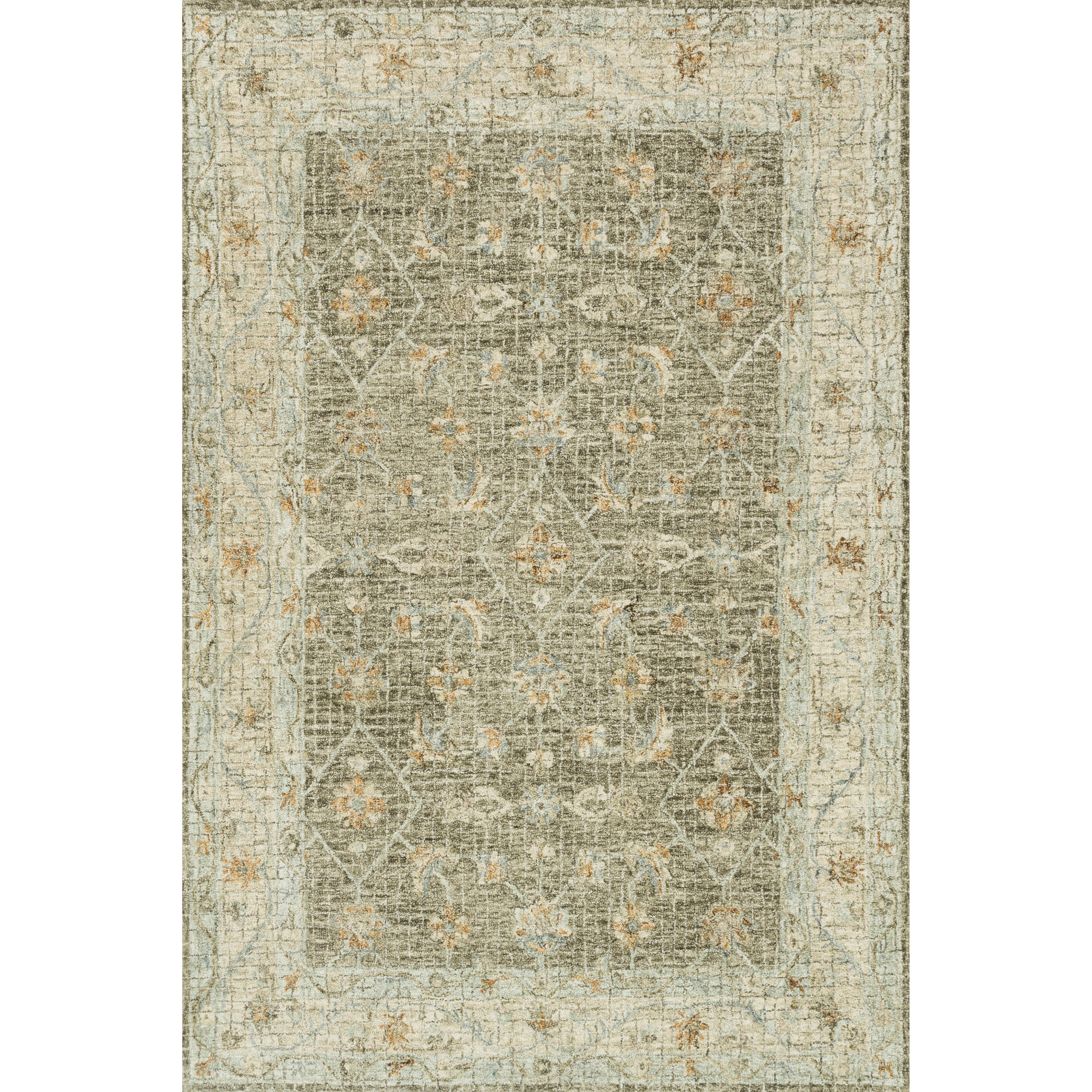 """Julian 5'0"""" x 7'6"""" Taupe / Sand Rug by Loloi Rugs at Virginia Furniture Market"""