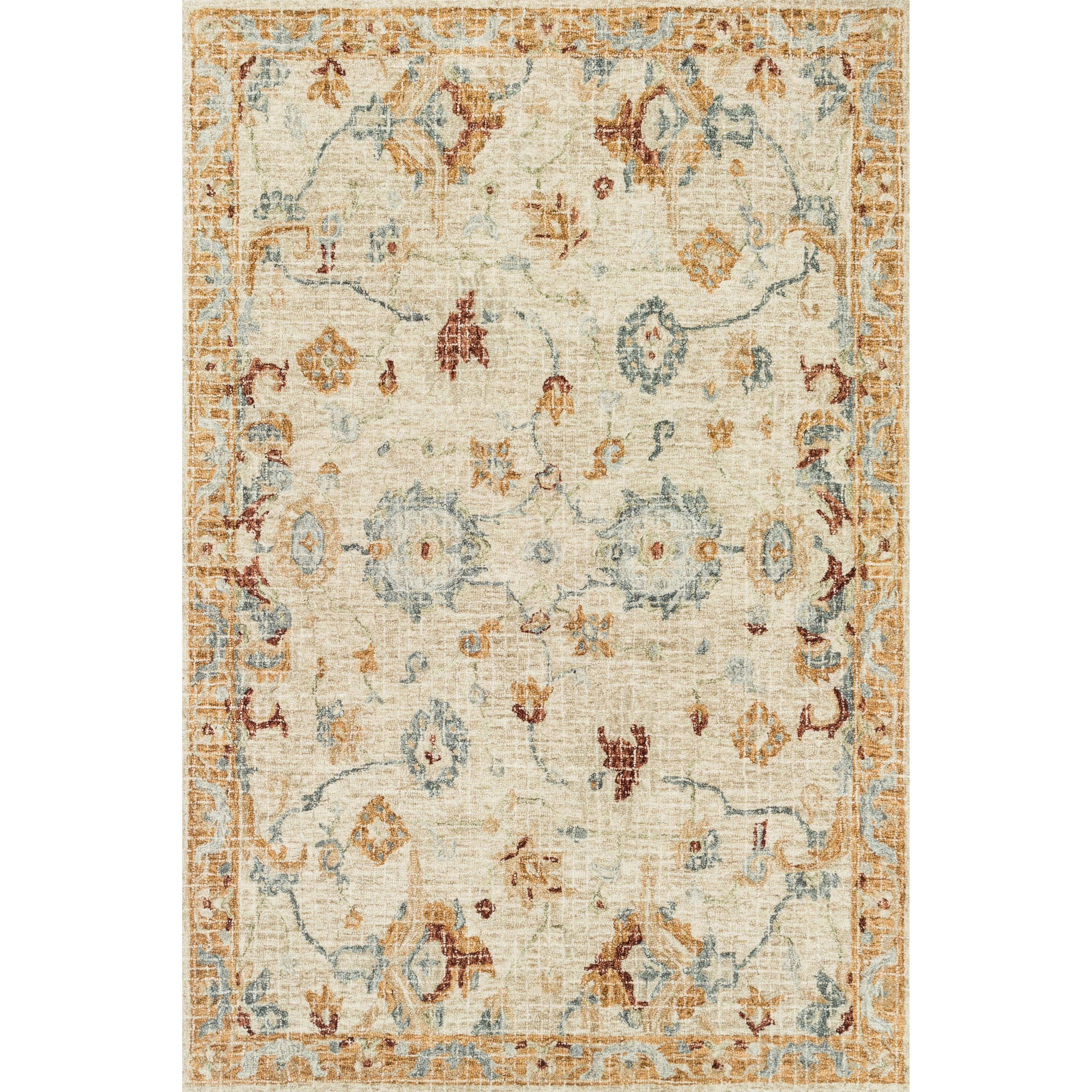 """Julian 9'3"""" x 13' Ivory / Multi Rug by Loloi Rugs at Virginia Furniture Market"""