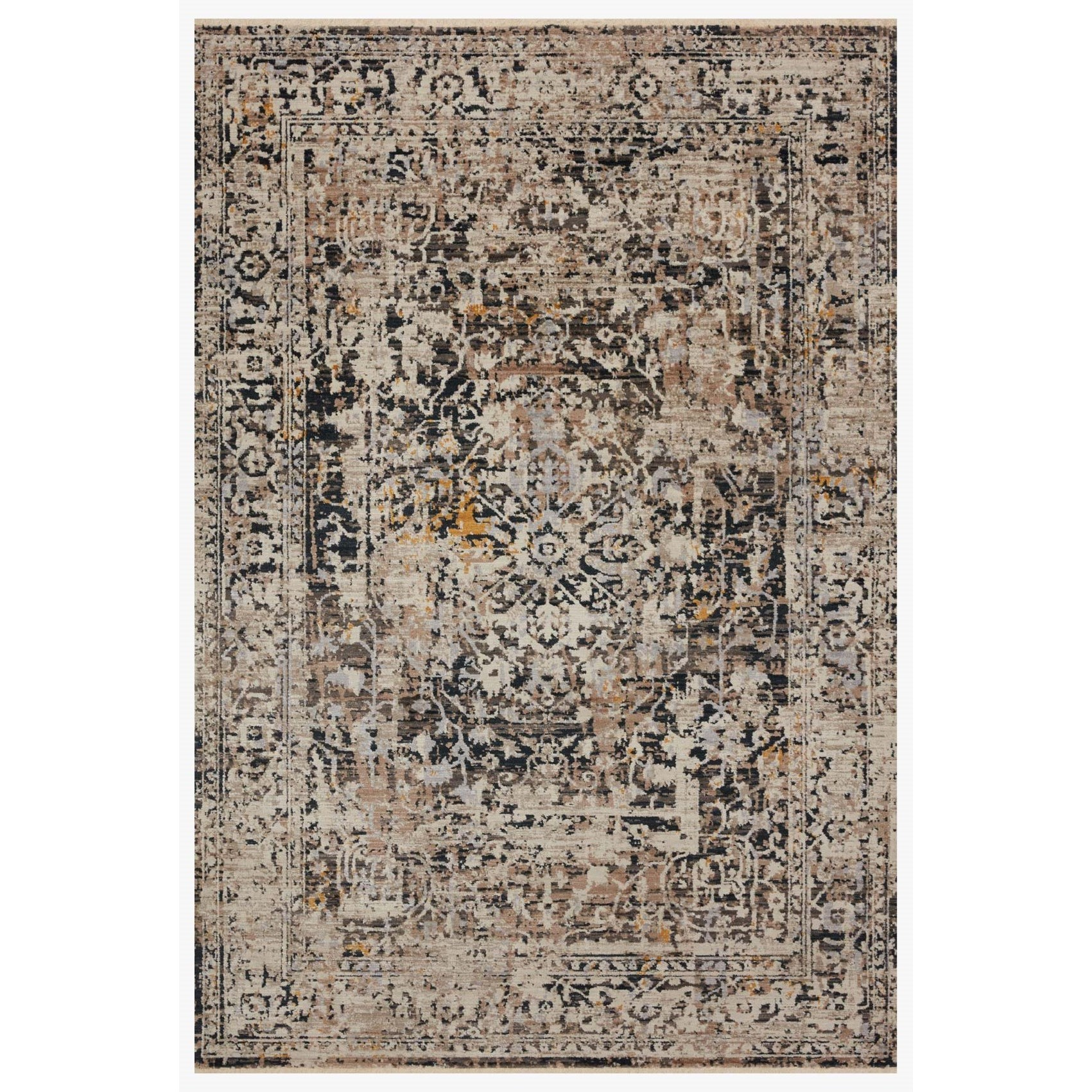 """Leigh 6'7"""" x 9'6"""" Charcoal / Taupe Rug by Loloi Rugs at Virginia Furniture Market"""