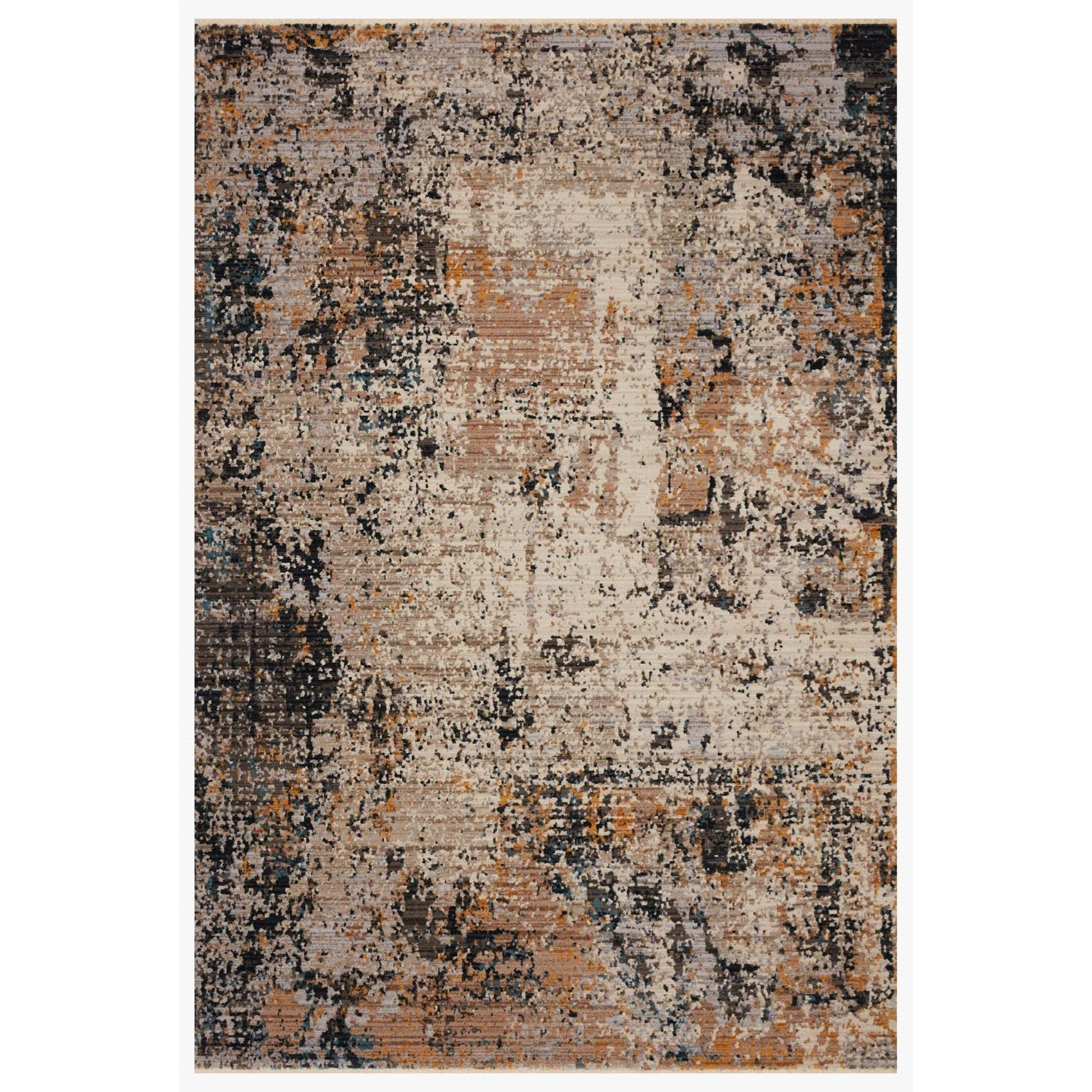 """Leigh 9'6"""" x 13' Silver / Multi Rug by Loloi Rugs at Virginia Furniture Market"""
