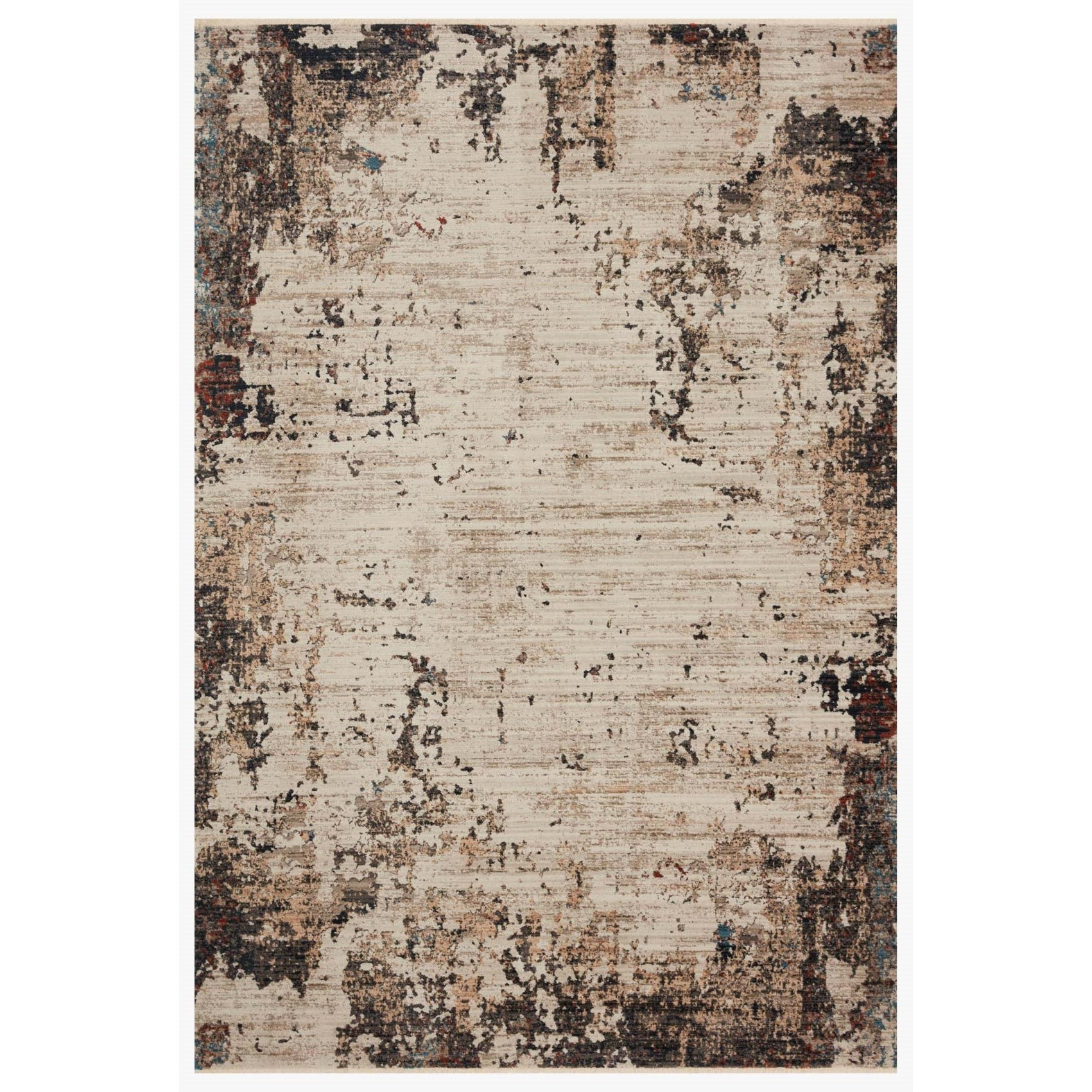 """Leigh 6'7"""" x 9'6"""" Ivory / Charcoal Rug by Loloi Rugs at Jacksonville Furniture Mart"""