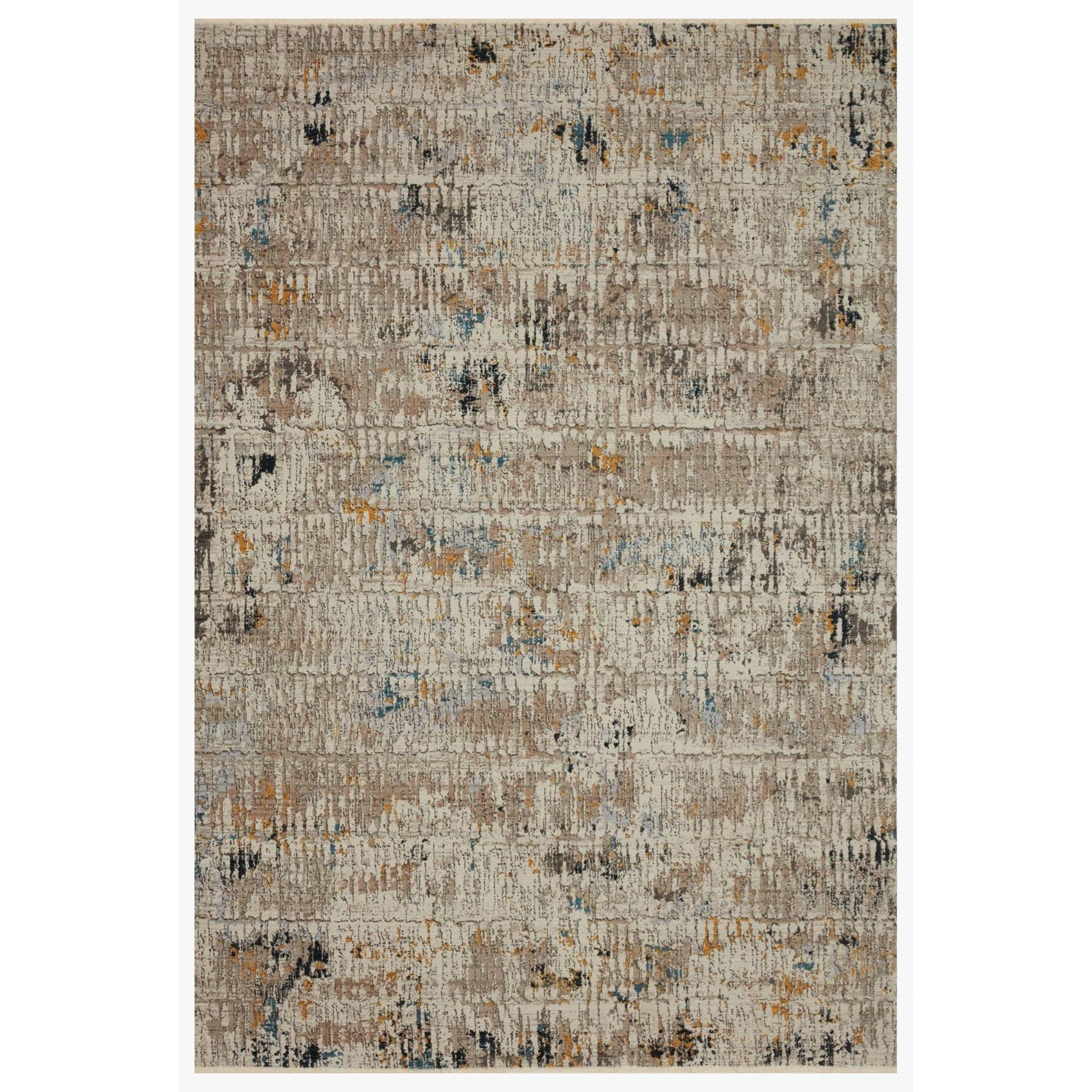"""Leigh 4'0"""" x 5'5"""" Ivory / Granite Rug by Loloi Rugs at Virginia Furniture Market"""