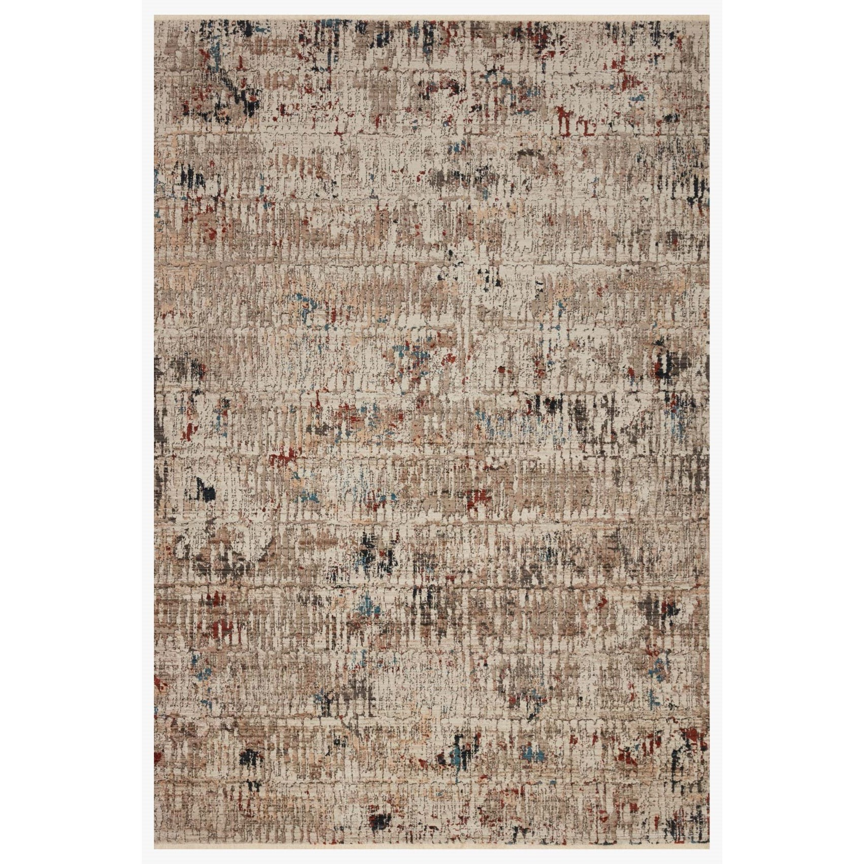 """Leigh 5'3"""" x 7'6"""" Ivory / Multi Rug by Loloi Rugs at Virginia Furniture Market"""