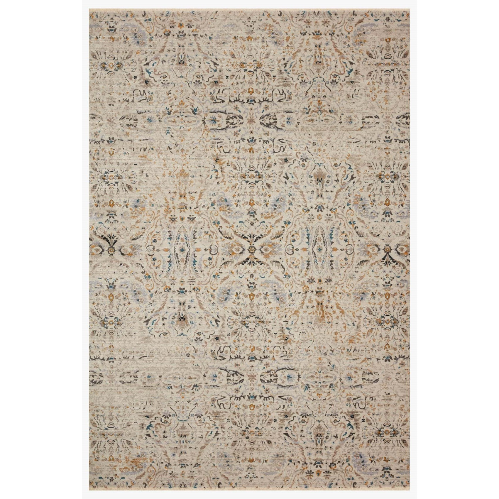 "Leigh 6'7"" x 9'6"" Ivory / Straw Rug by Loloi Rugs at Belfort Furniture"