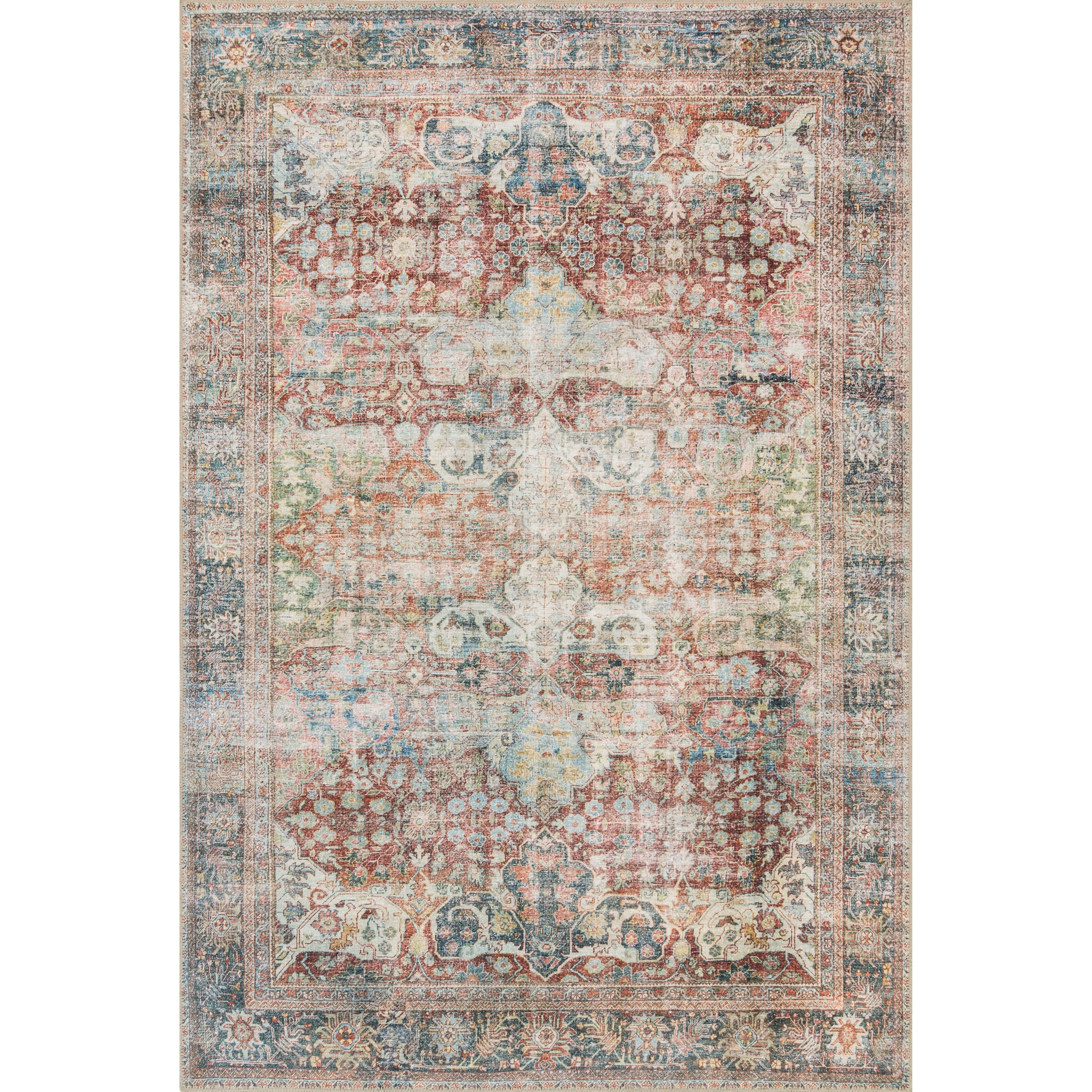"Loren 8'4"" x 11'6"" Brick / Multi Rug by Loloi Rugs at Miller Waldrop Furniture and Decor"