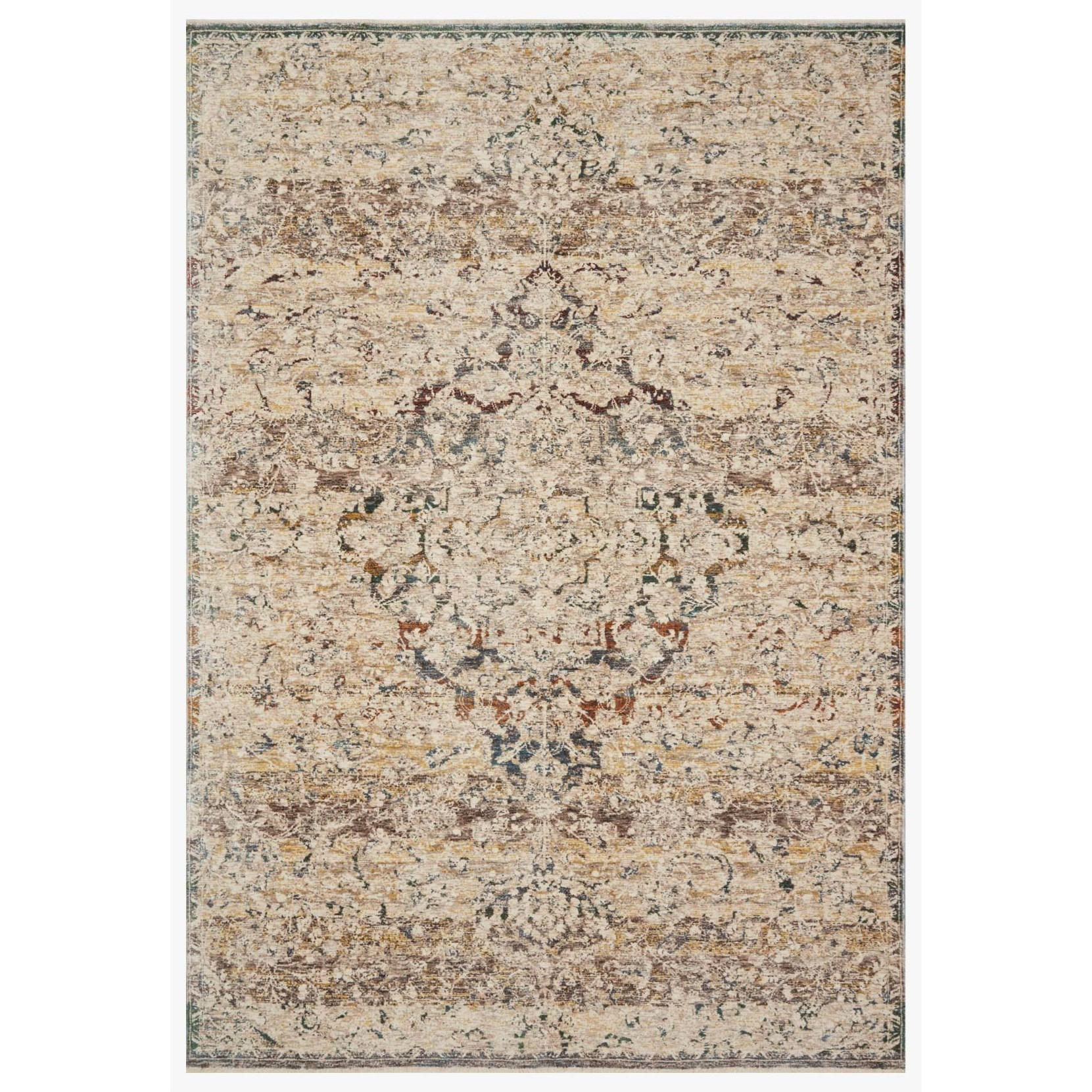 """Lourdes 9'6"""" x 13'1"""" Ivory / Multi Rug by Loloi Rugs at Virginia Furniture Market"""