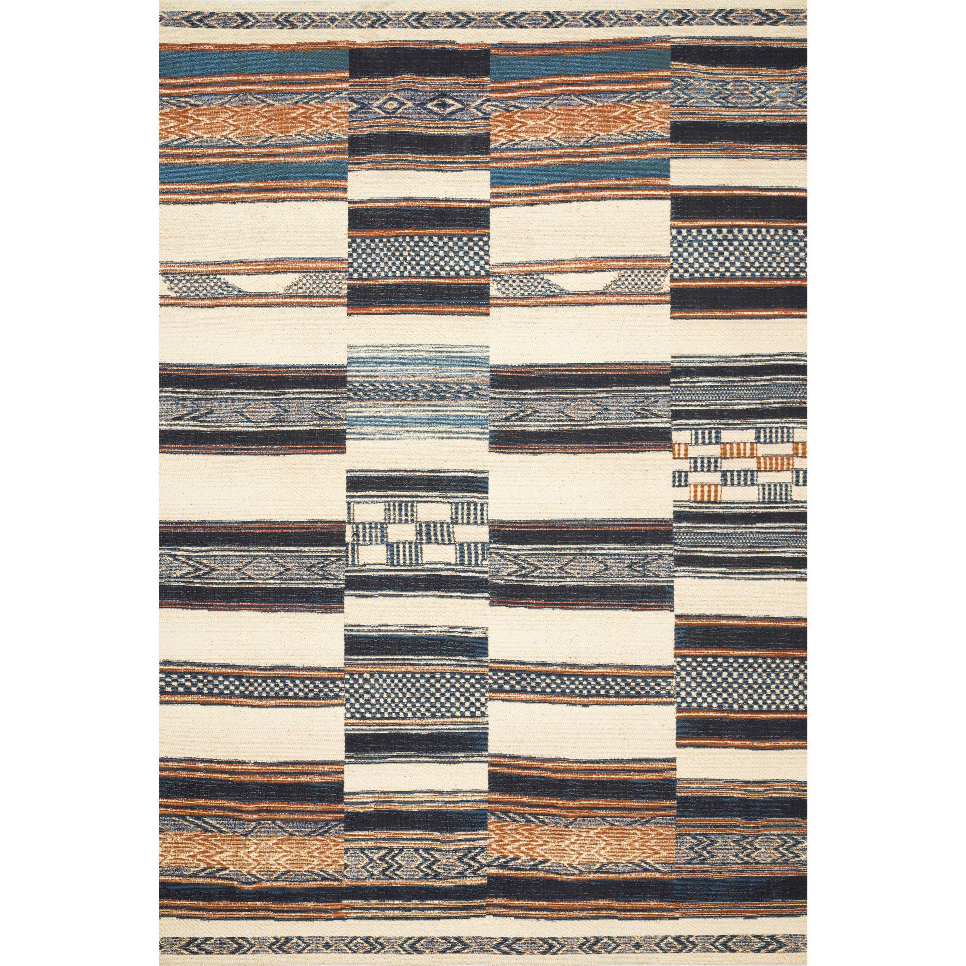 """Mika 5'3"""" x 7'8"""" Ivory / Multi Rug by Loloi Rugs at Virginia Furniture Market"""