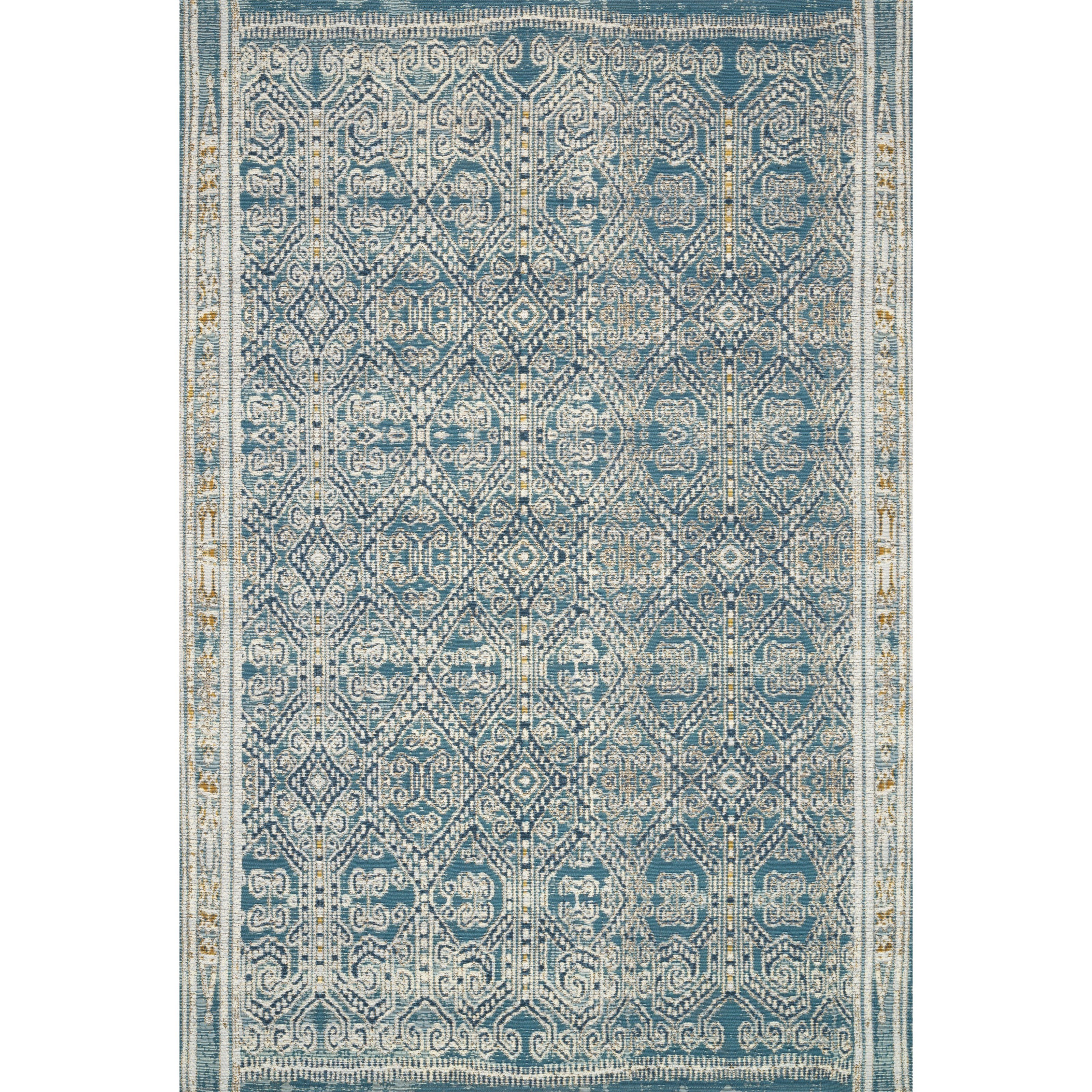 """Mika 7'10"""" x 11'2"""" Ocean Rug by Loloi Rugs at Virginia Furniture Market"""