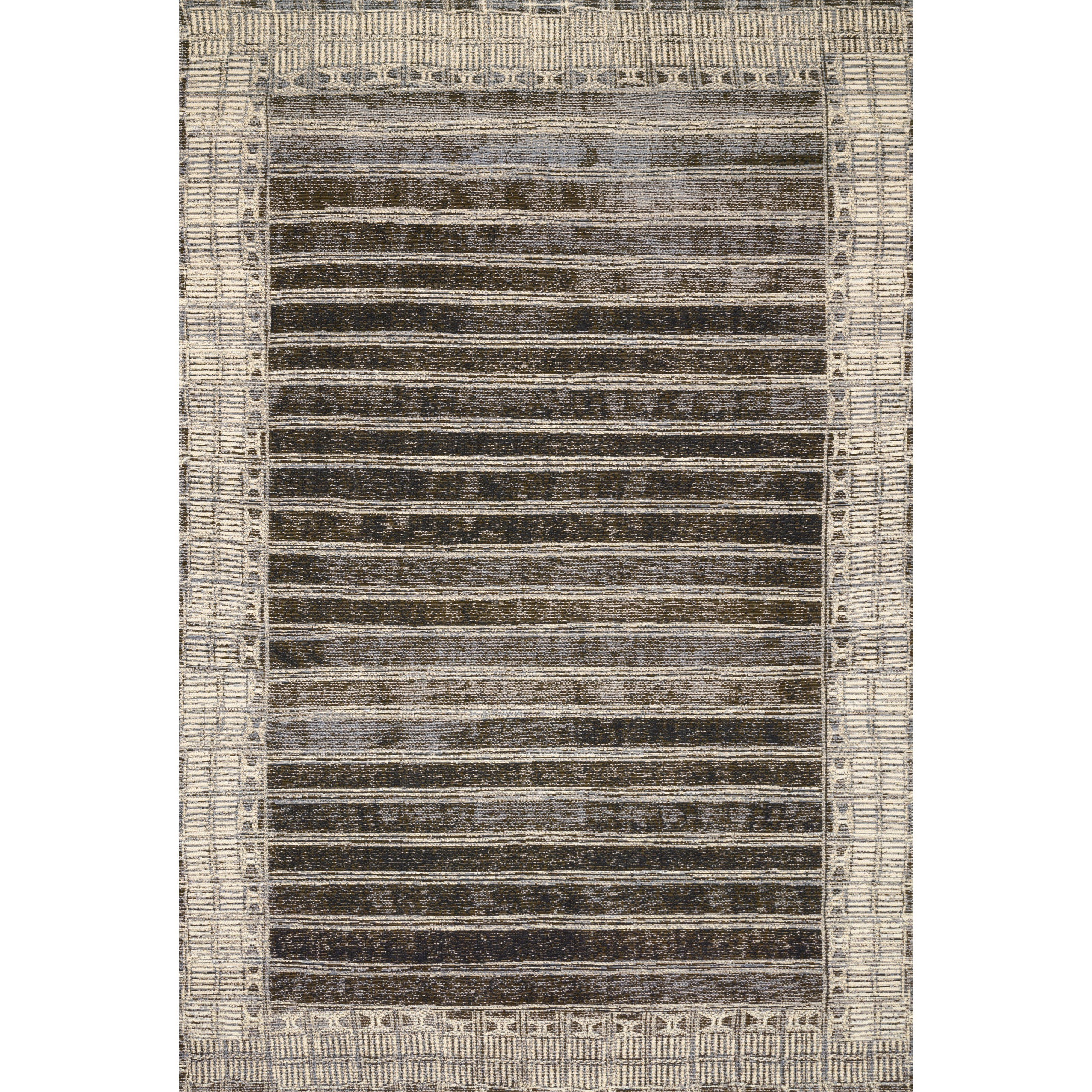 """Mika 6'7"""" x 9'4"""" Charcoal / Ivory Rug by Loloi Rugs at Virginia Furniture Market"""