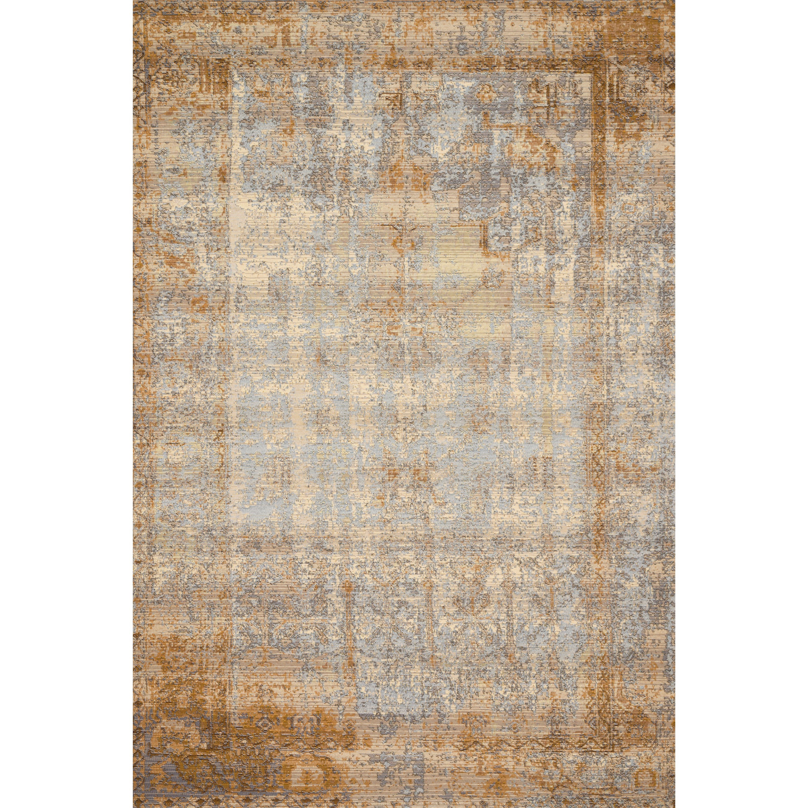"""Mika 1'6"""" x 1'6""""  Ant. Ivory / Copper Rug by Loloi Rugs at Sprintz Furniture"""
