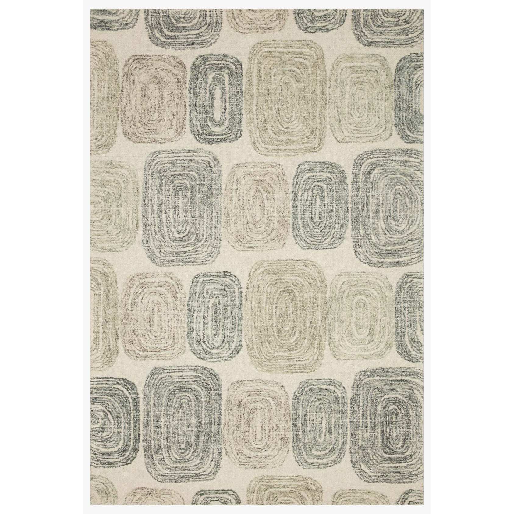 """Milo 18"""" x 18""""  Dk. Grey / Neutral Rug by Loloi Rugs at Virginia Furniture Market"""