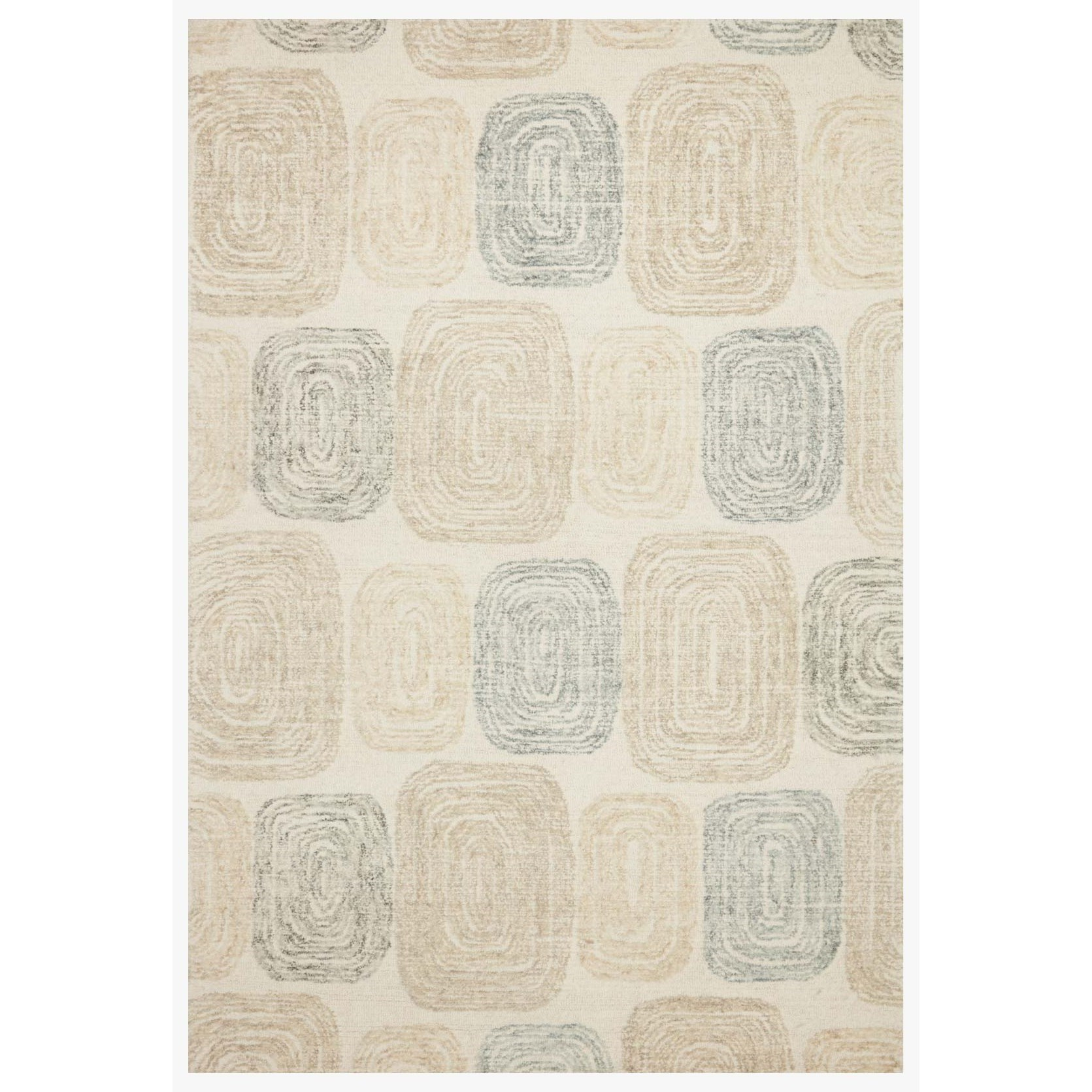 """Milo 3'6"""" x 5'6"""" Teal / Neutral Rug by Loloi Rugs at Virginia Furniture Market"""
