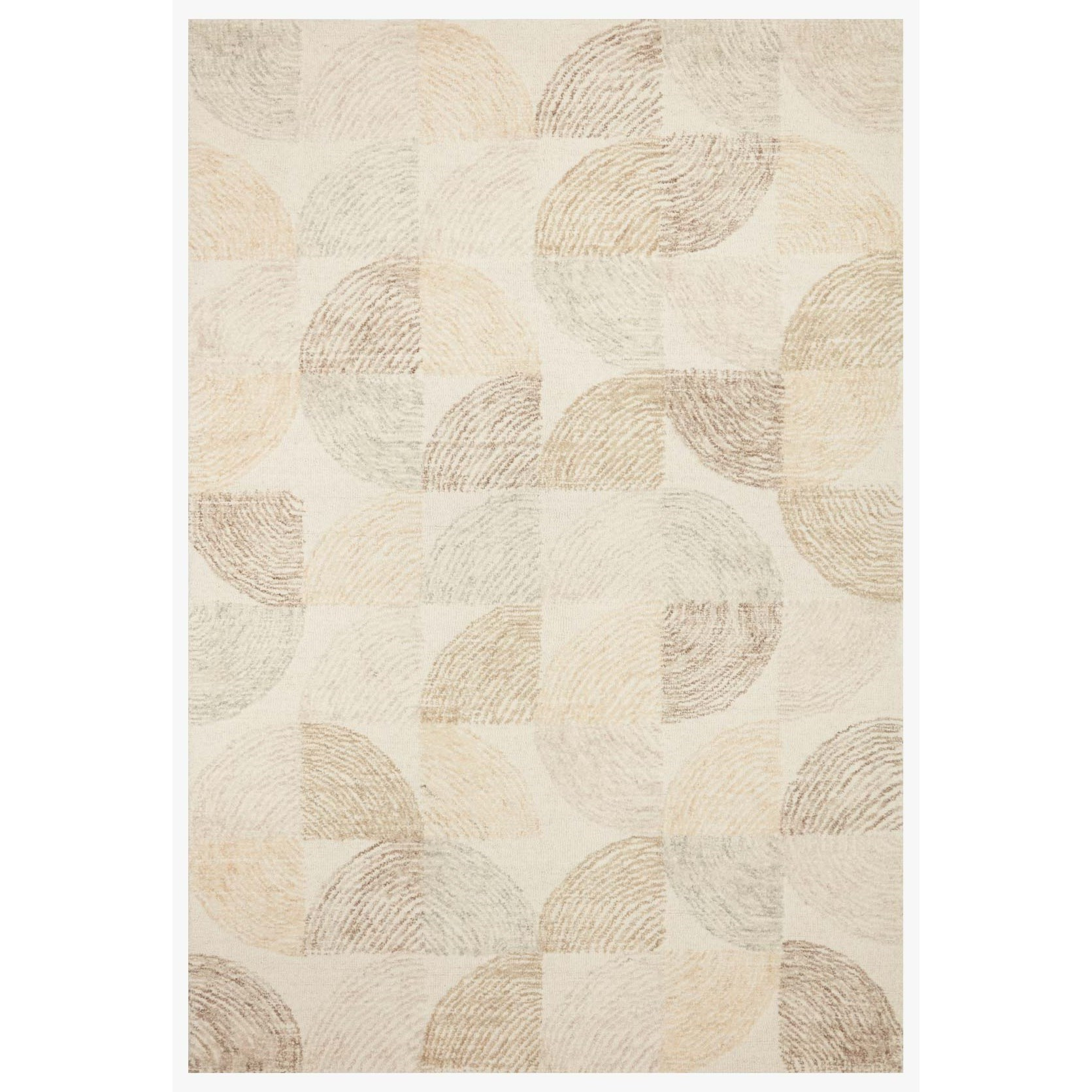 "Milo 5'0"" x 7'6"" Pebble / Multi Rug by Loloi Rugs at Sprintz Furniture"