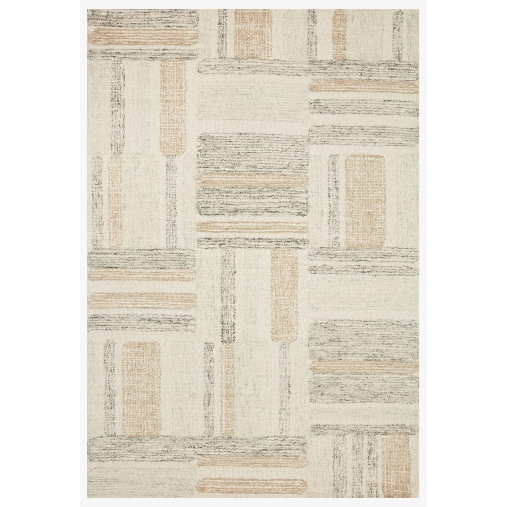 """Milo 2'6"""" x 7'6"""" Slate / Olive Rug by Loloi Rugs at Virginia Furniture Market"""