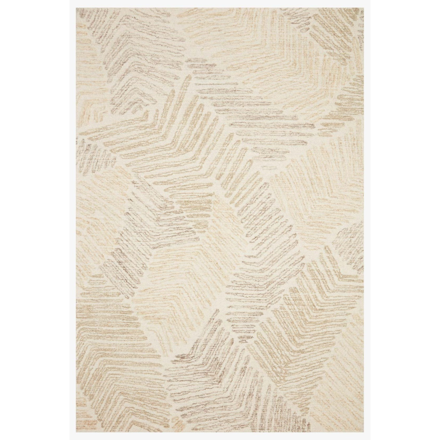 "Milo 2'3"" x 3'9"" Olive / Natural Rug by Loloi Rugs at Belfort Furniture"