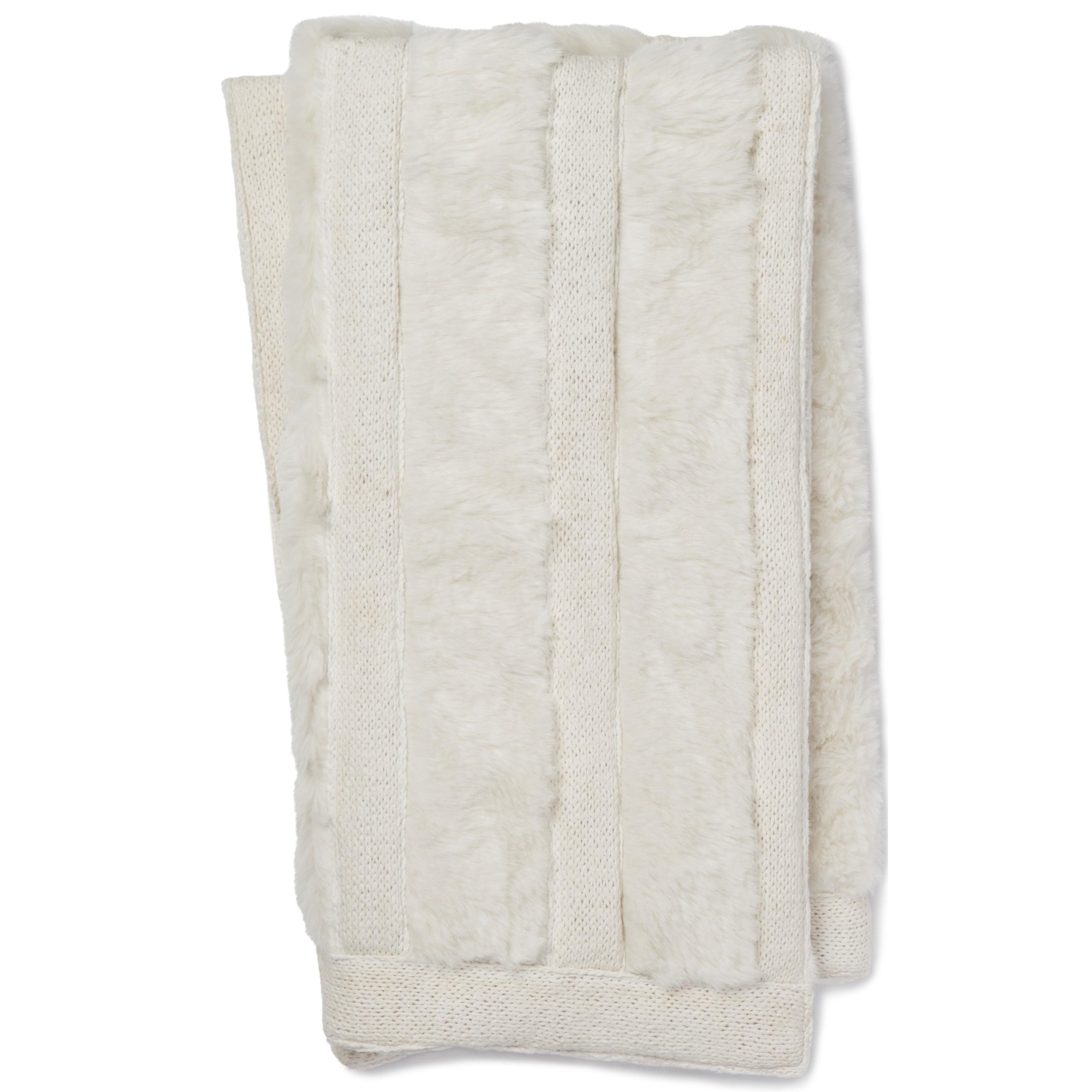 "Neva 4'2"" x 5' White Throw by Loloi Rugs at Virginia Furniture Market"