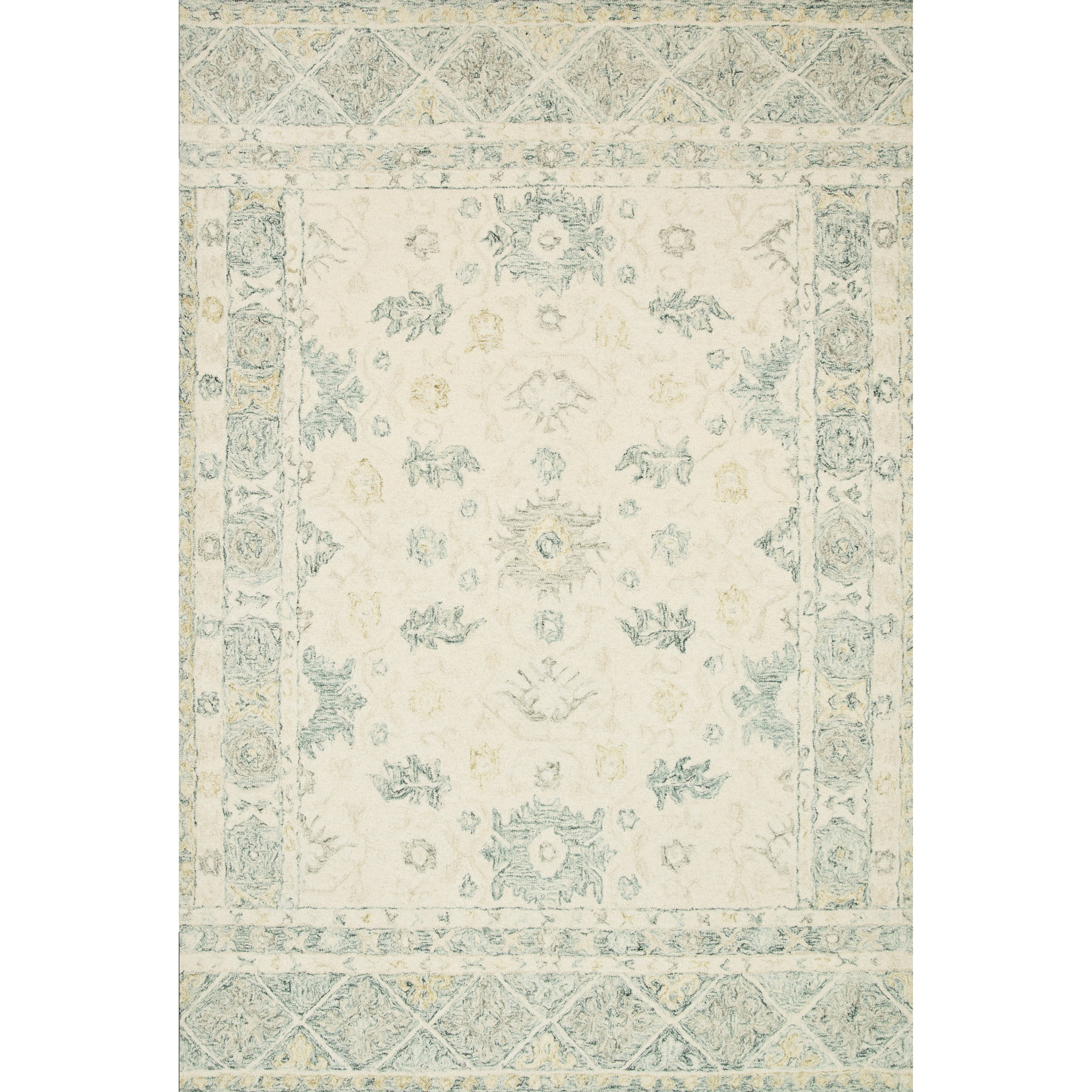 """Norabel 3'6"""" x 5'6"""" Ivory / Slate Rug by Loloi Rugs at Virginia Furniture Market"""