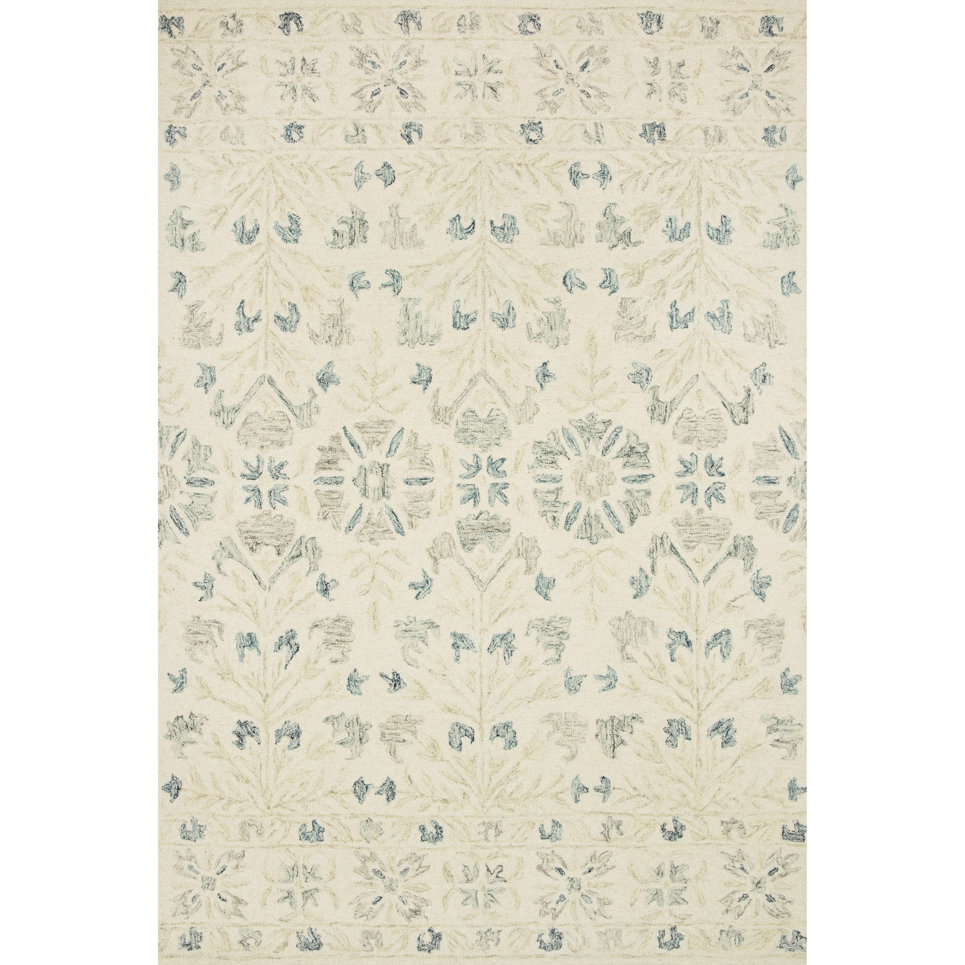 """Norabel 8'6"""" x 12' Ivory / Grey Rug by Loloi Rugs at Virginia Furniture Market"""