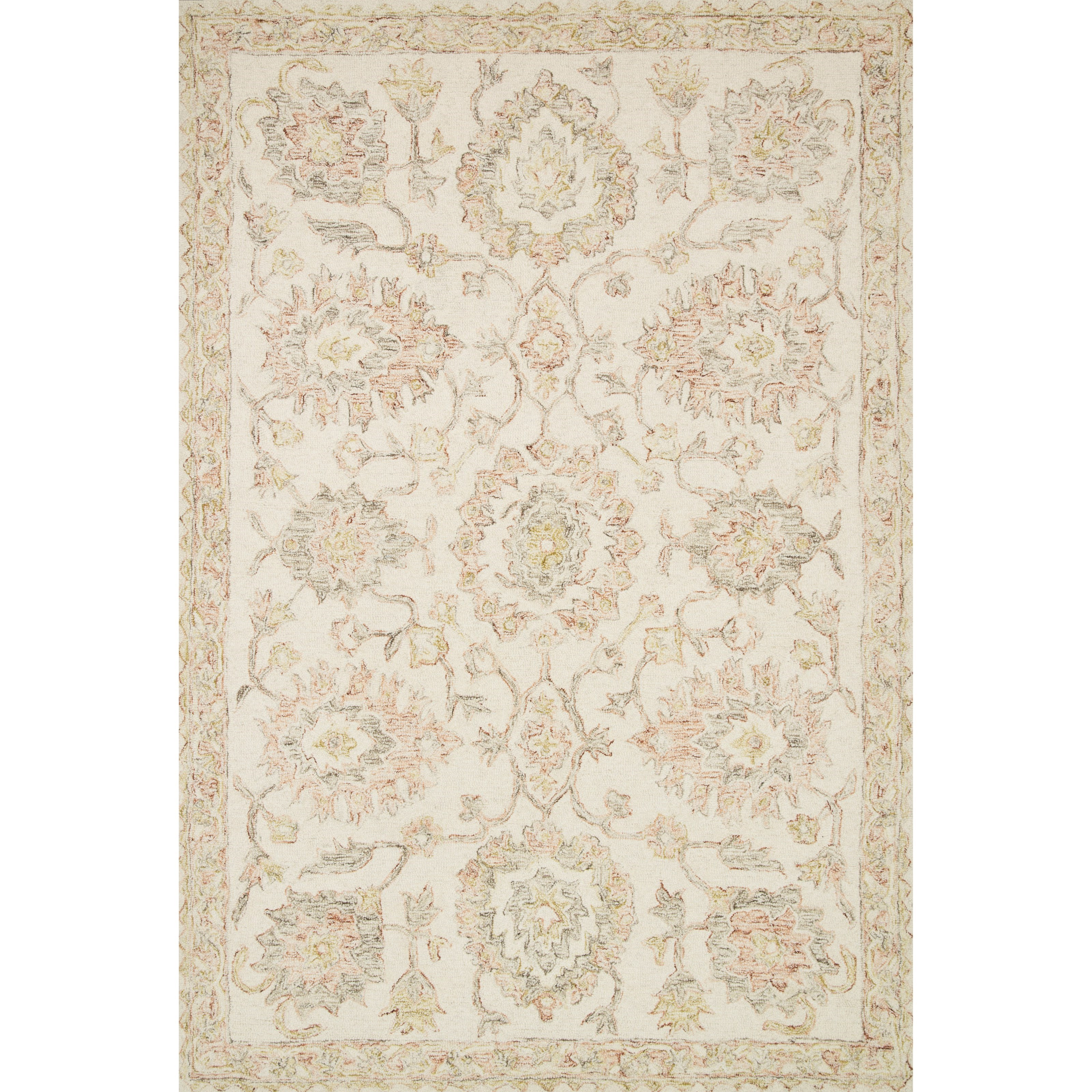 """Norabel 2'6"""" x 9'9"""" Ivory / Blush Rug by Loloi Rugs at Virginia Furniture Market"""
