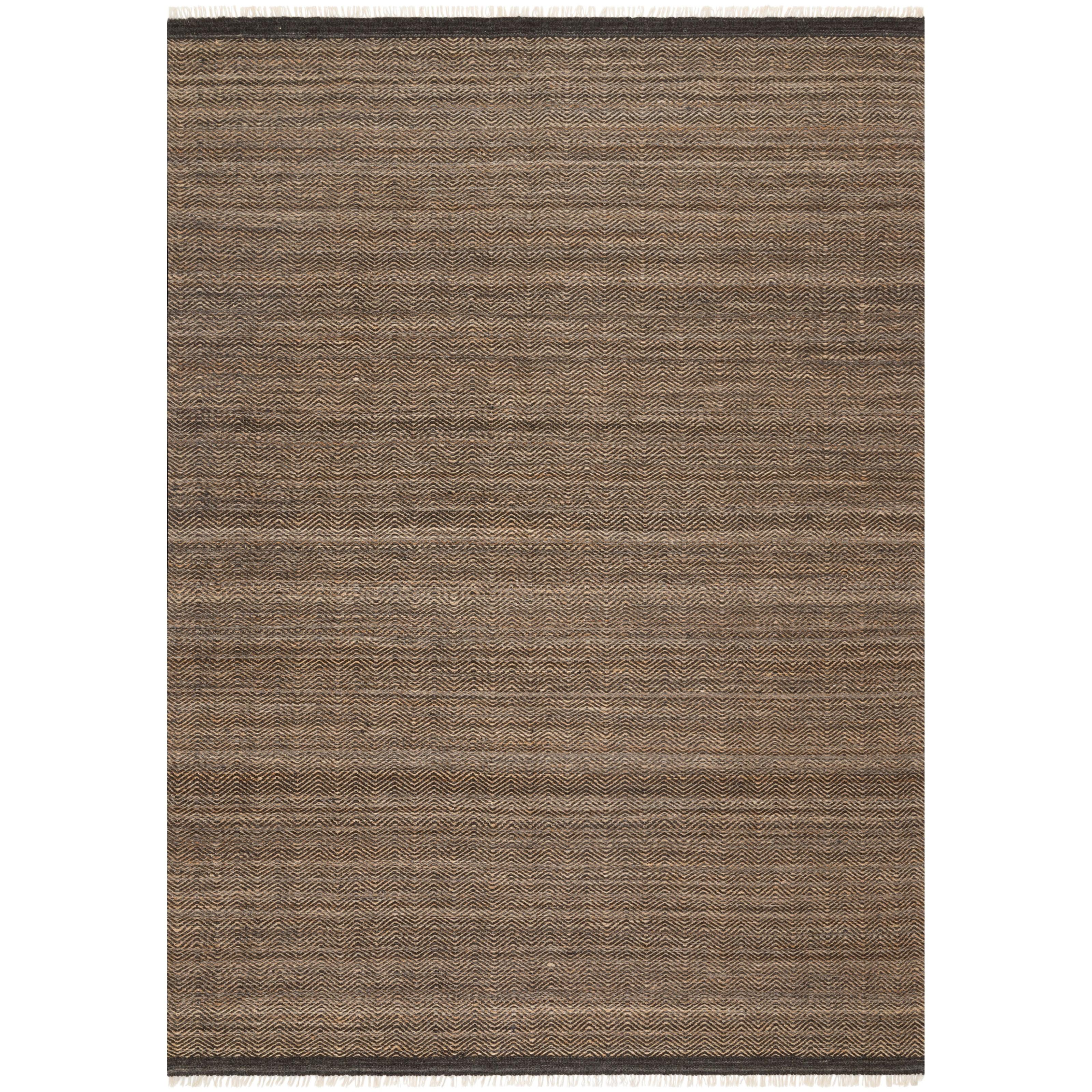 "Omen 5'0"" x 7'6"" Mocha Rug by Loloi Rugs at Sprintz Furniture"