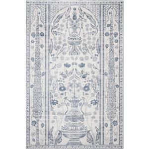 5-0 X 7-6 RP Dove/Denim Area Rug