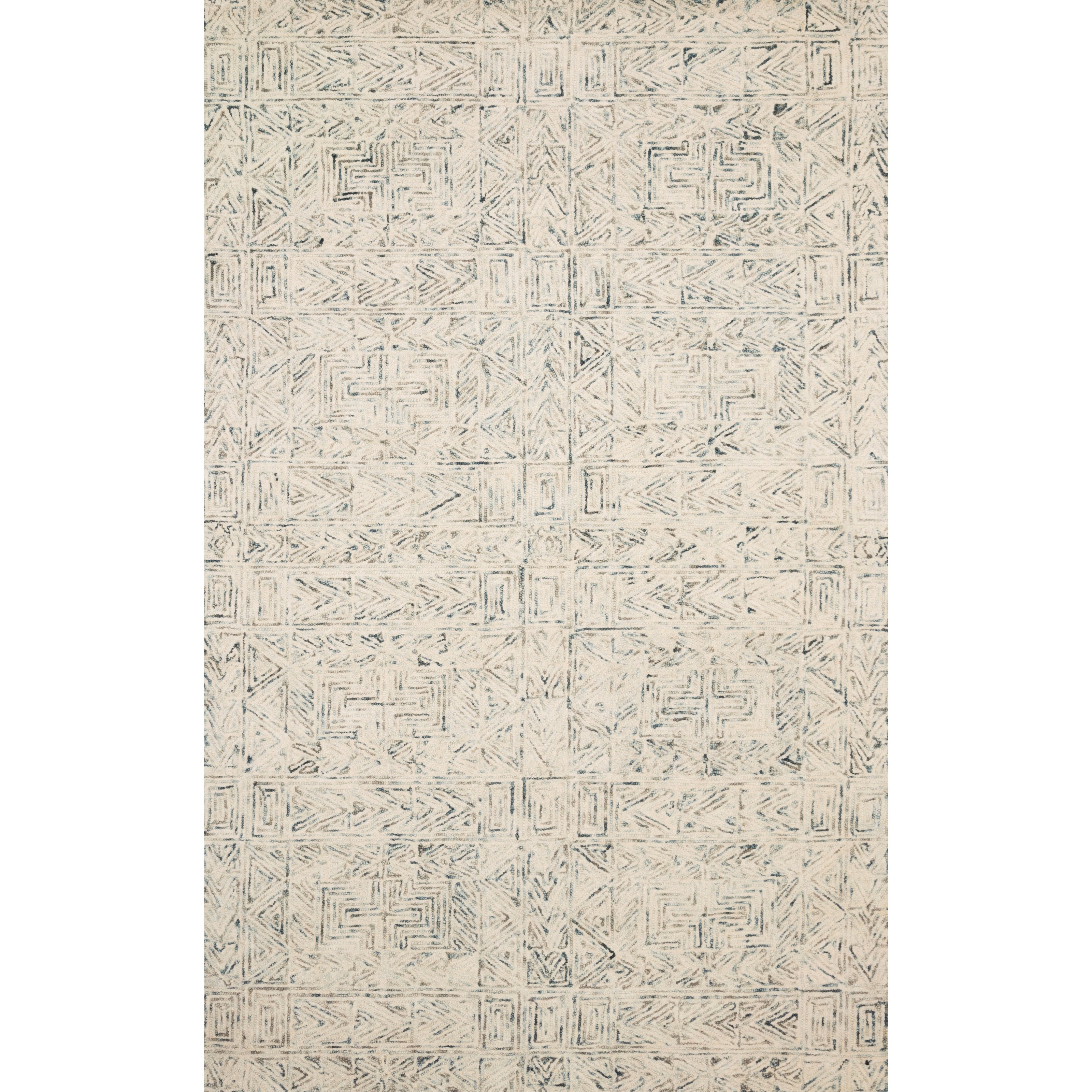 """Peregrine 5'0"""" x 7'6"""" Lt. Blue Rug by Loloi Rugs at Virginia Furniture Market"""