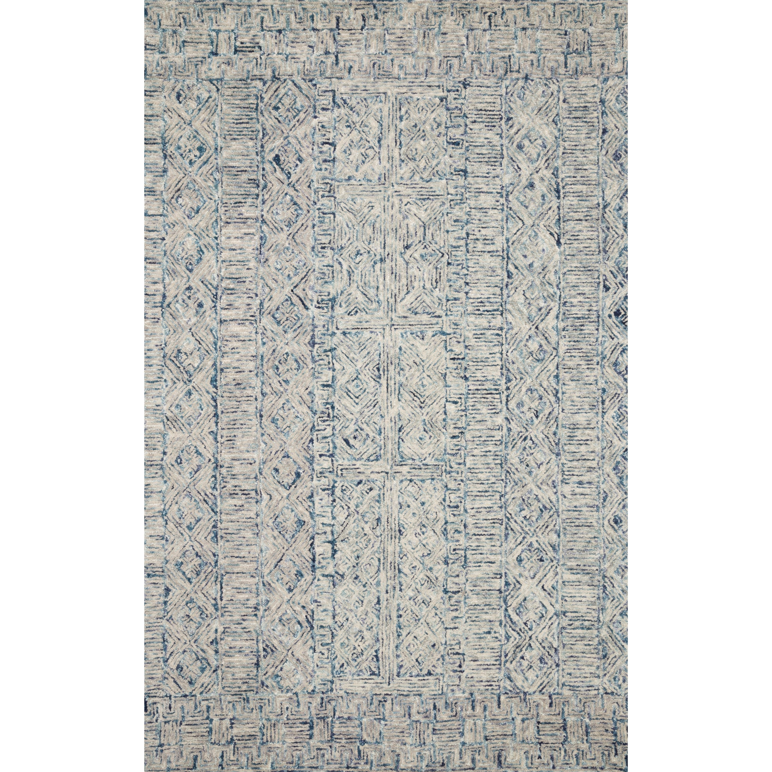 "Peregrine 5'0"" x 7'6"" Ocean Rug by Loloi Rugs at Virginia Furniture Market"
