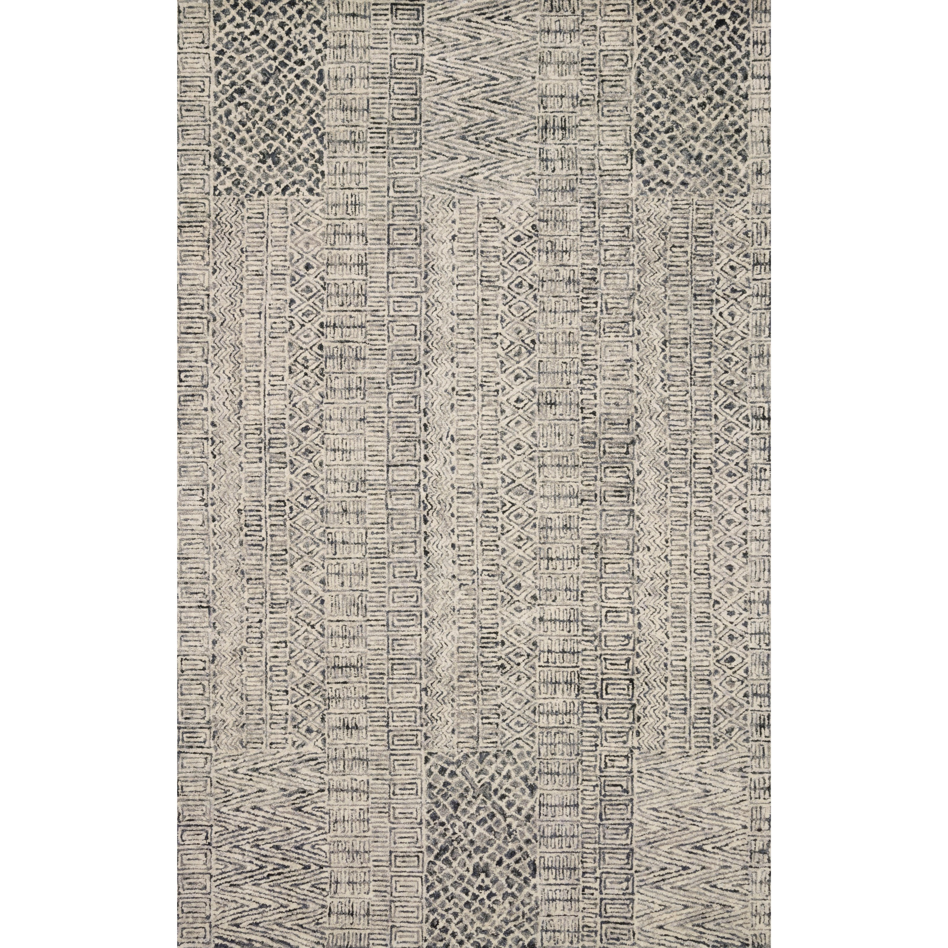 """Peregrine 7'9"""" x 9'9"""" Charcoal Rug by Loloi Rugs at Virginia Furniture Market"""