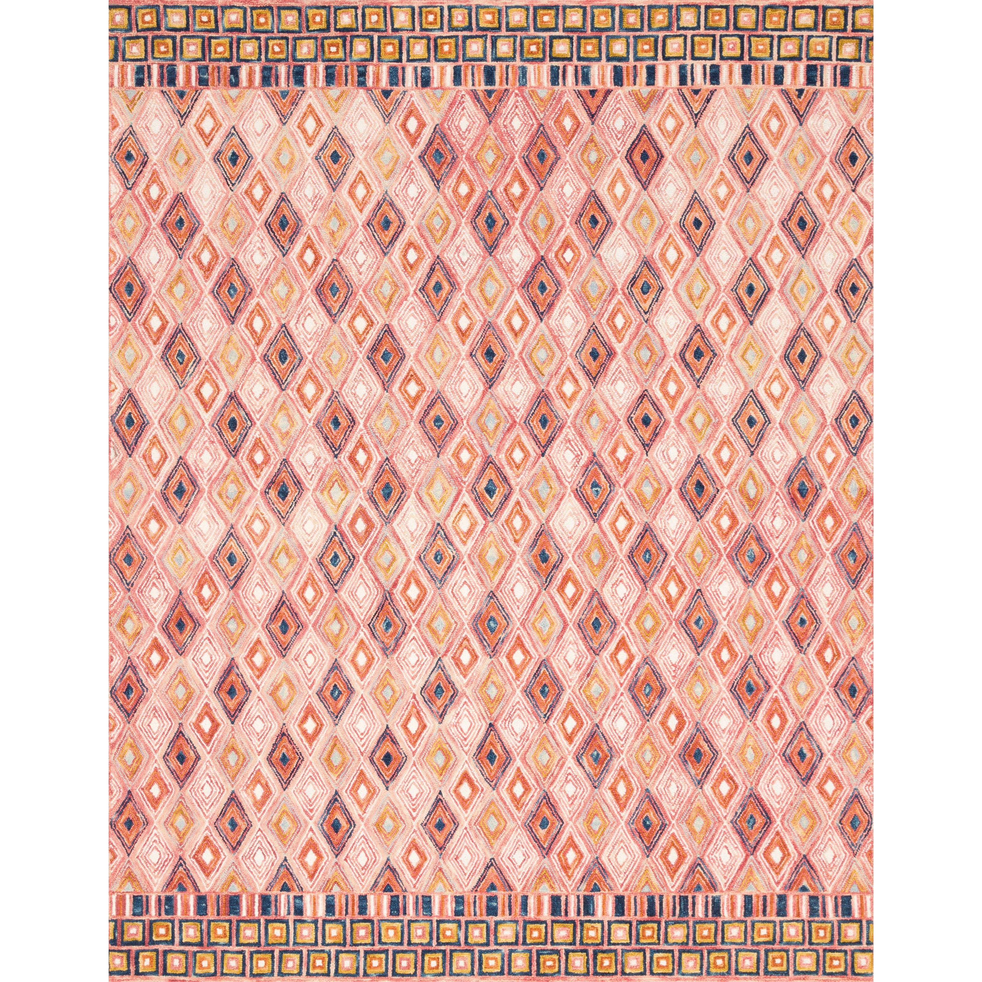 "Priti 7'9"" x 9'9"" Pink / Sunset Rug by Loloi Rugs at Virginia Furniture Market"