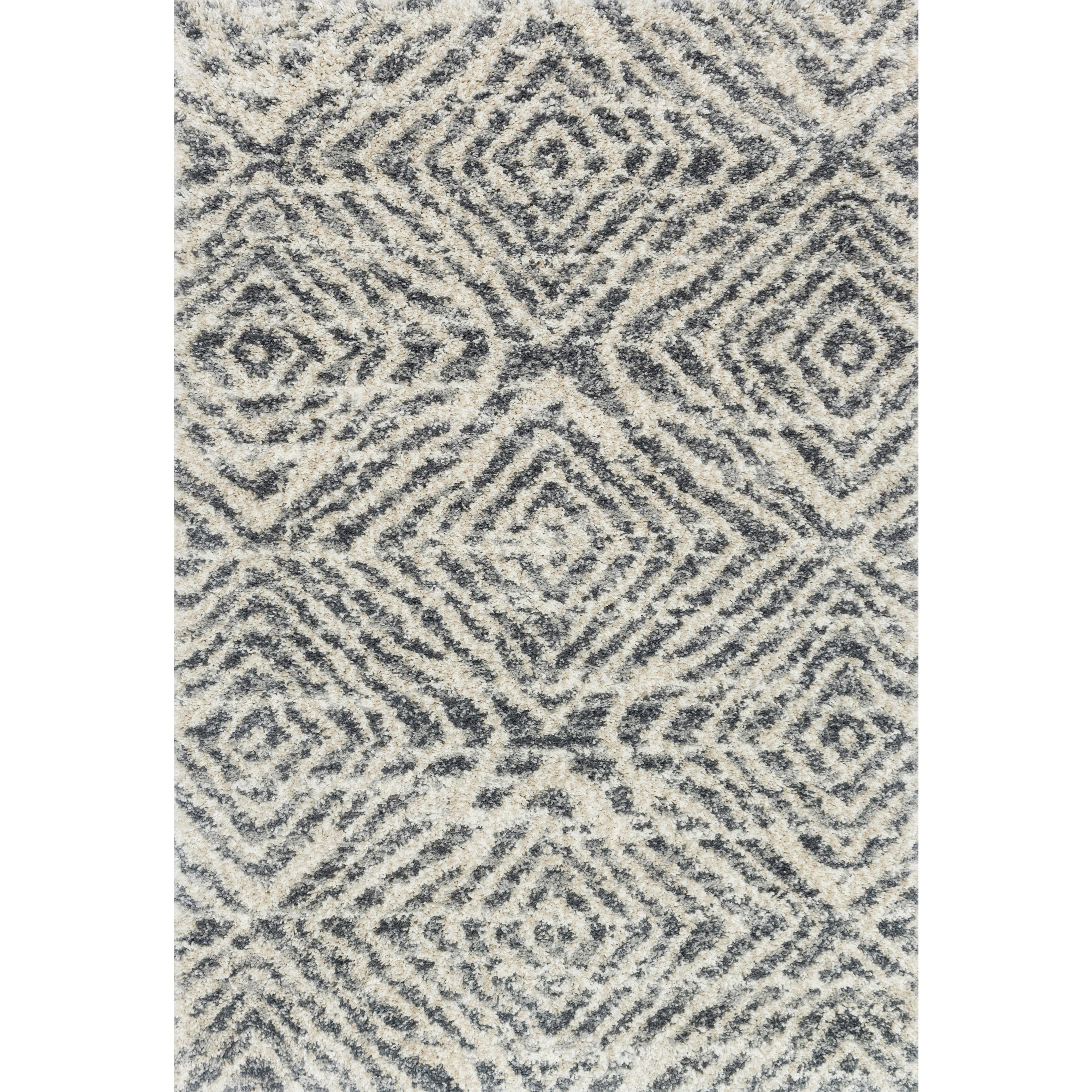 """Quincy 2'3"""" x 12' Graphite / Sand Rug by Loloi Rugs at Pedigo Furniture"""