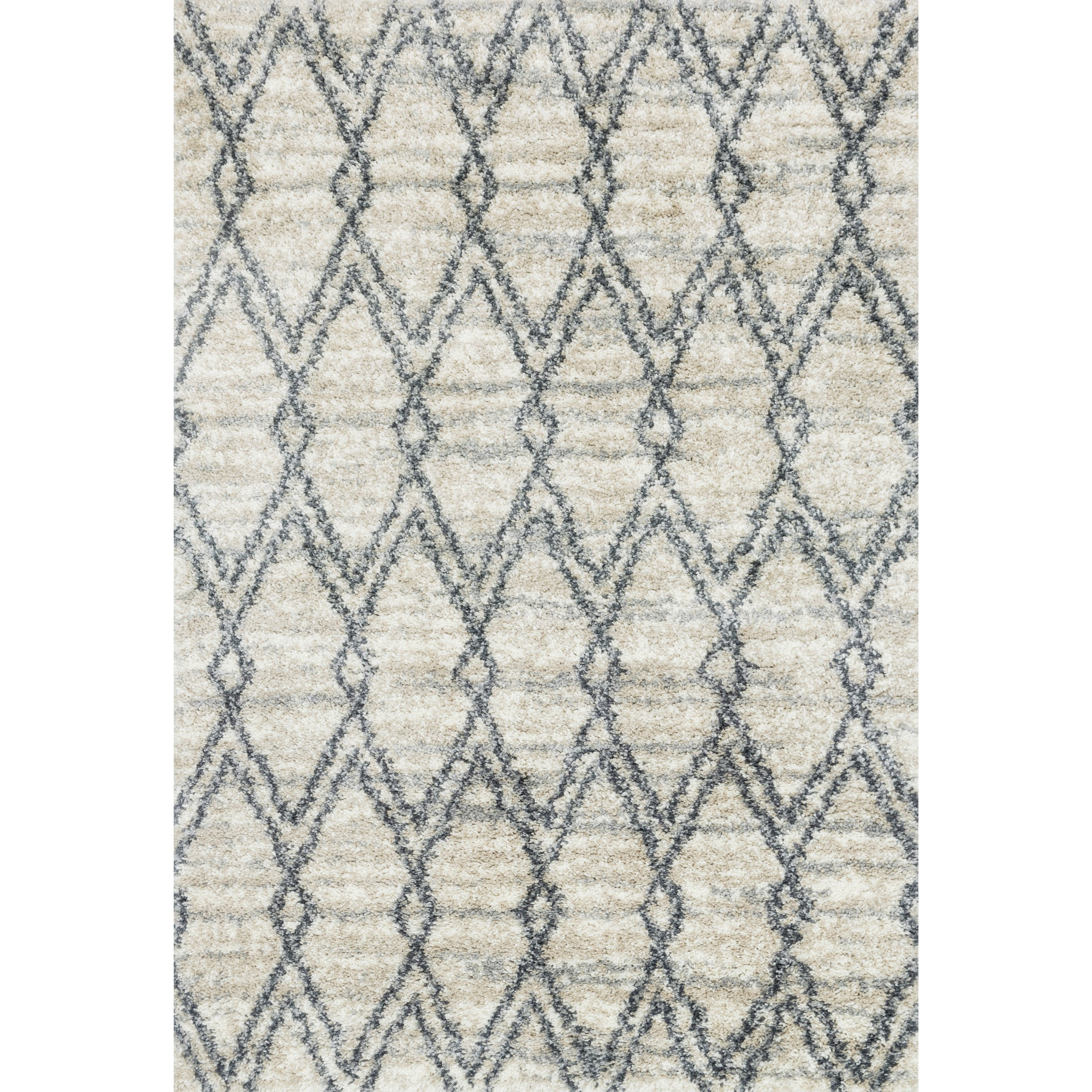 "Quincy 2'3"" x 4'0"" Sand / Graphite Rug by Loloi Rugs at Belfort Furniture"