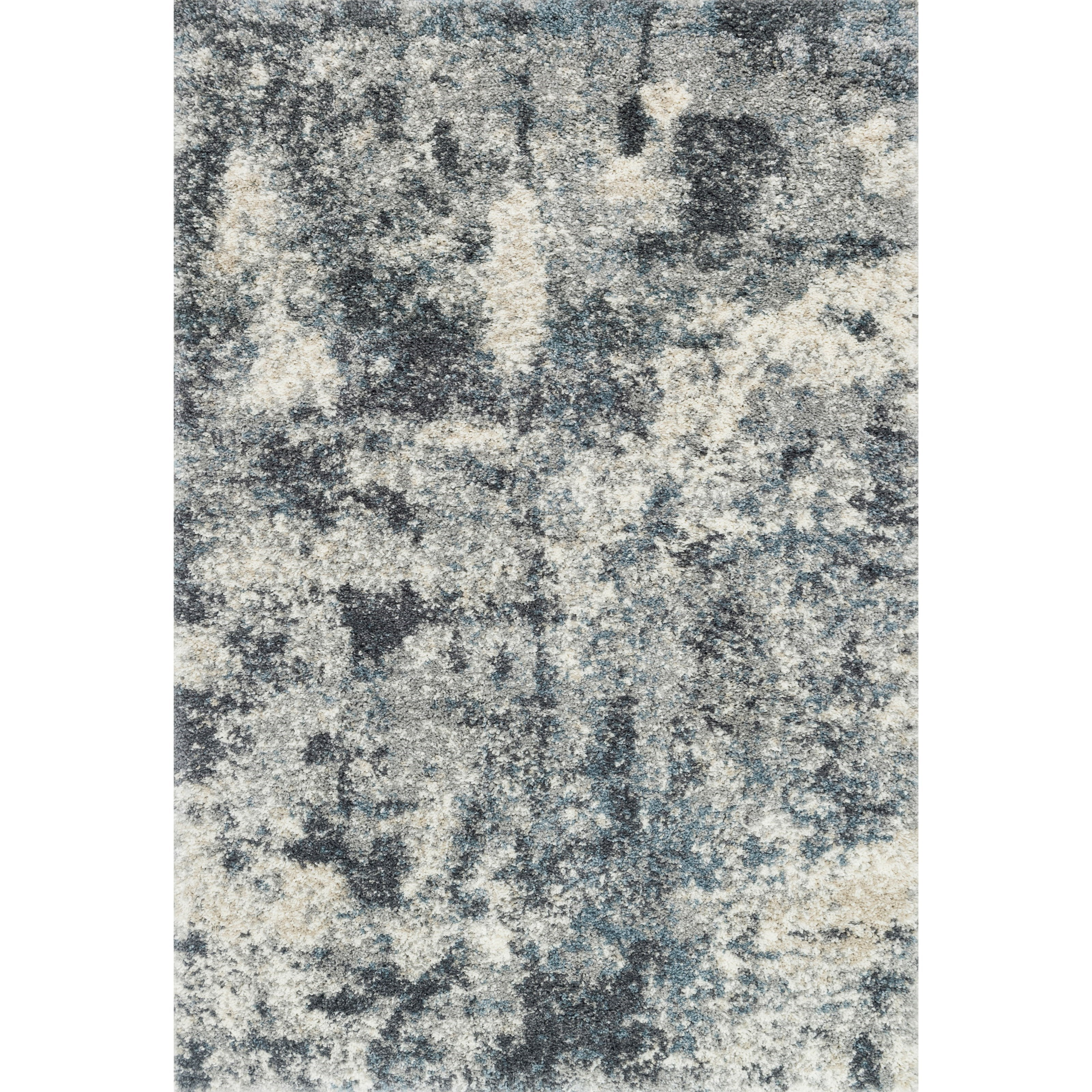 """Quincy 1'6"""" x 1'6""""  Slate Rug by Loloi Rugs at Virginia Furniture Market"""