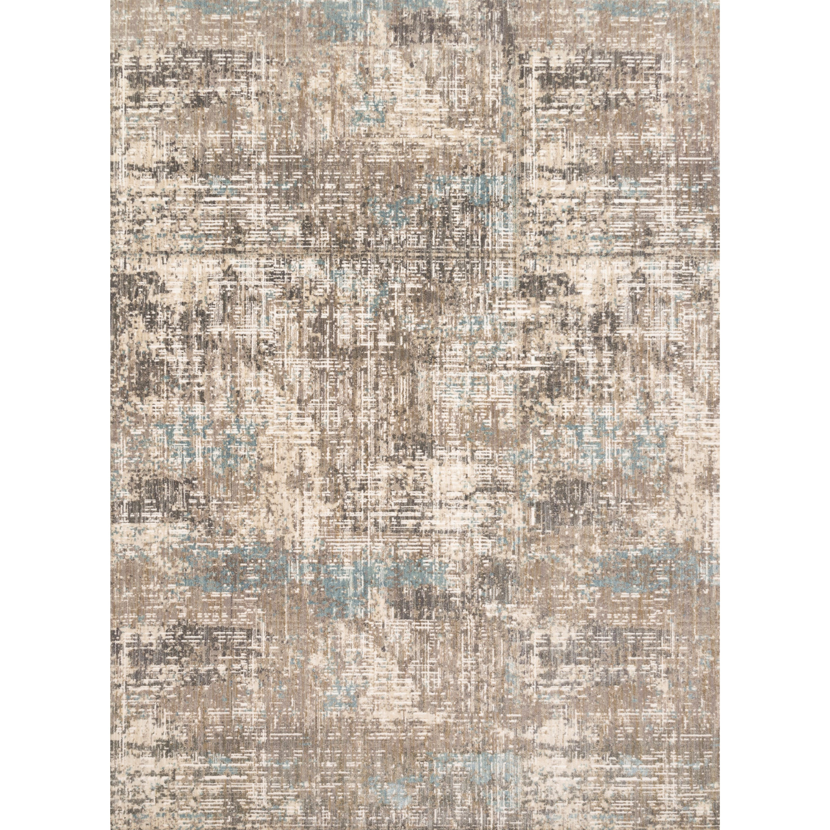 """Reid 3'7"""" x 5'7"""" Pewter Rug by Loloi Rugs at Virginia Furniture Market"""