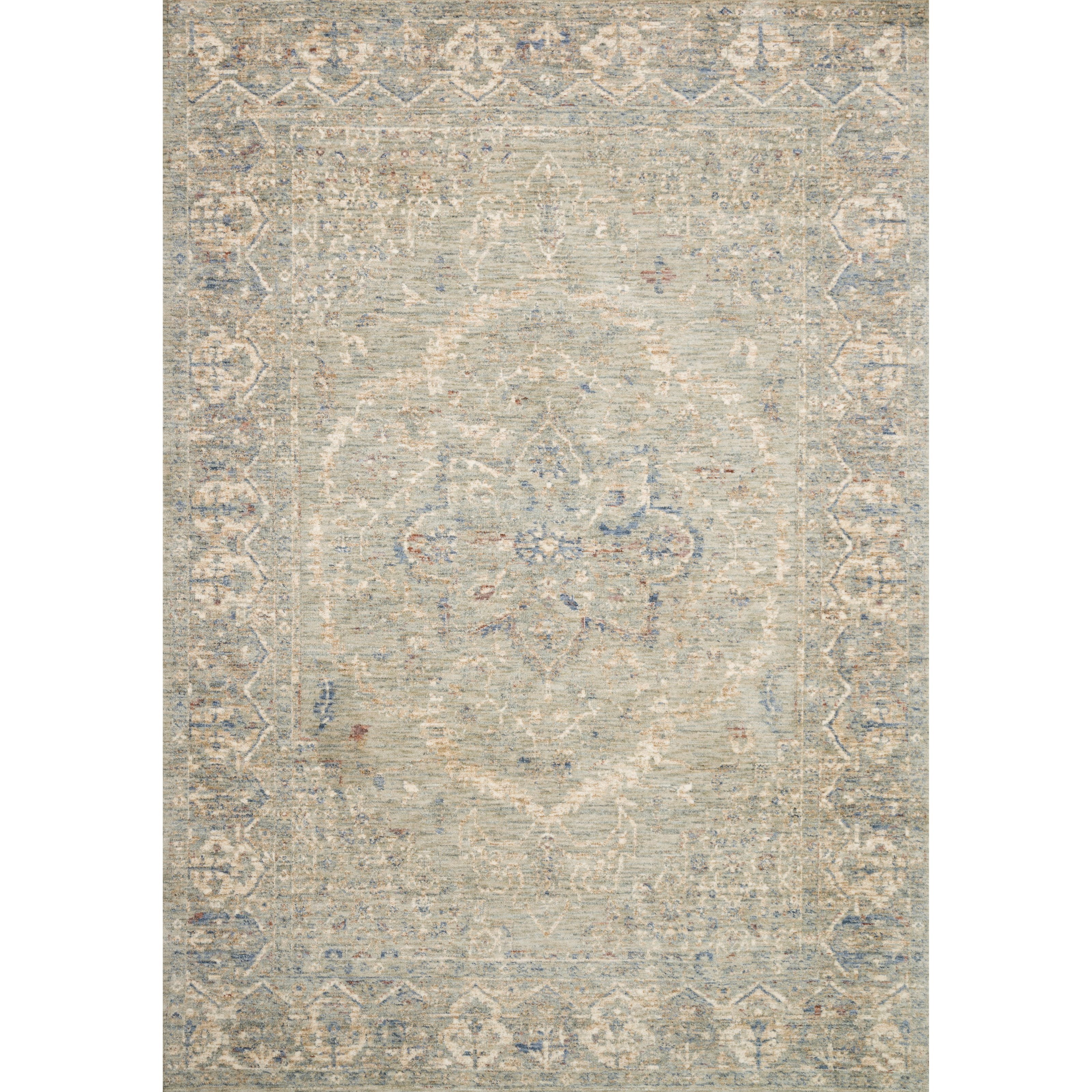 """Revere 2'6"""" x 10'0"""" Mist Rug by Loloi Rugs at Virginia Furniture Market"""