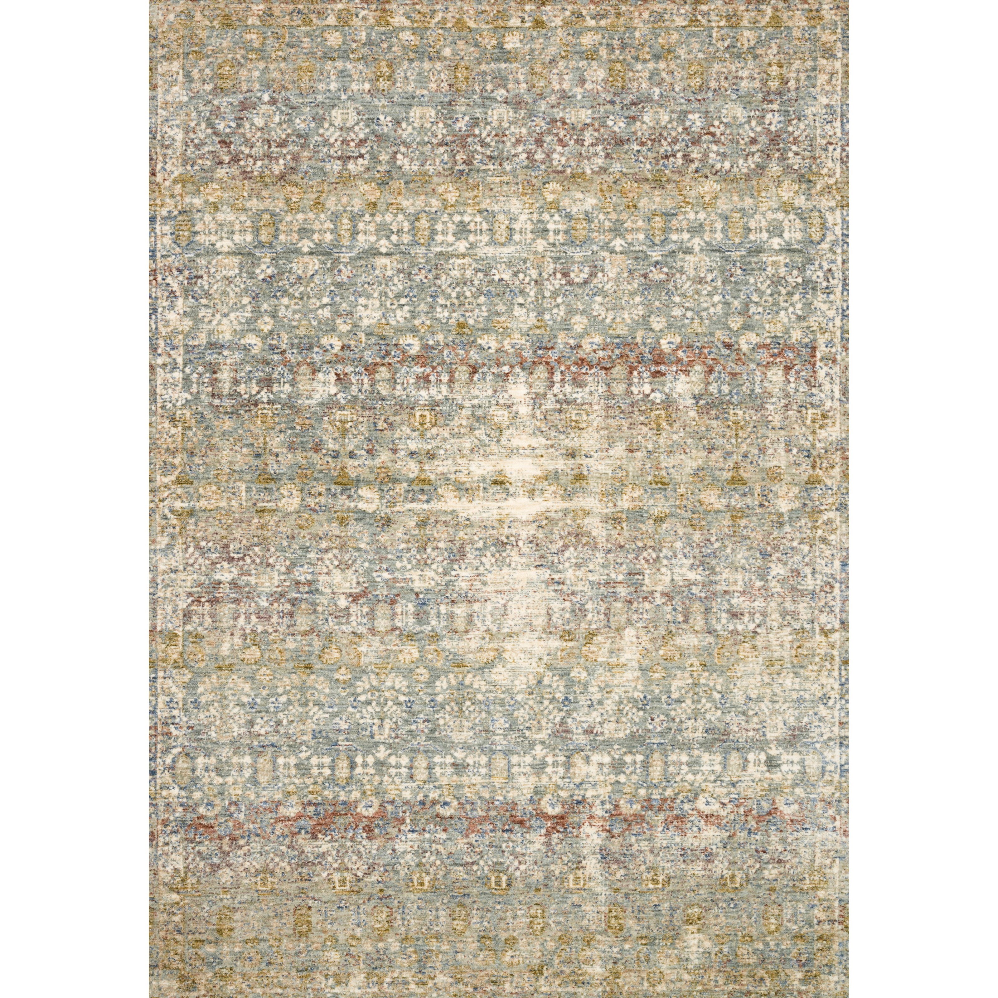 """Revere 11'6"""" x 15'6"""" Grey / Multi Rug by Loloi Rugs at Virginia Furniture Market"""