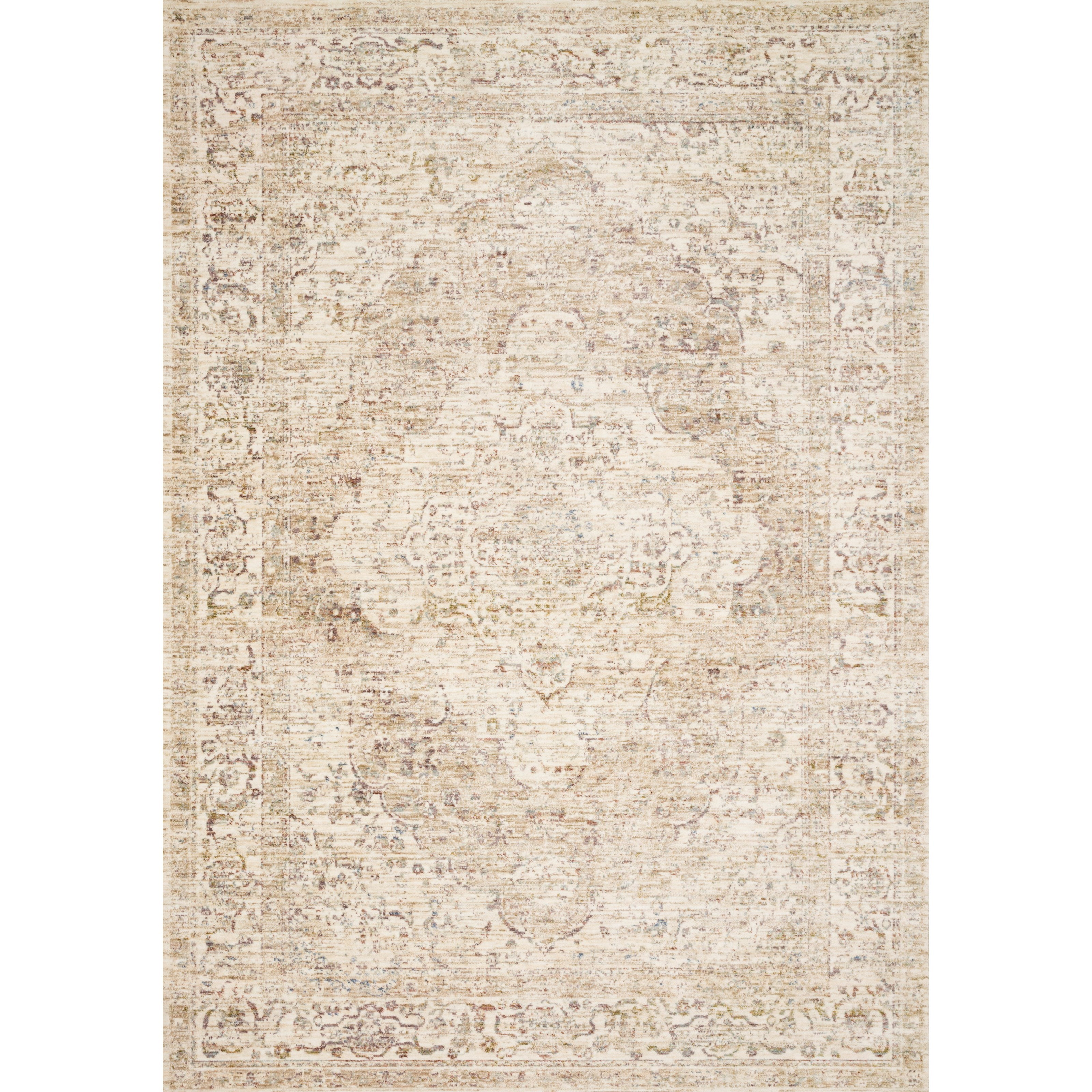 """Revere 1'6"""" x 1'6""""  Ivory / Berry Rug by Loloi Rugs at Virginia Furniture Market"""