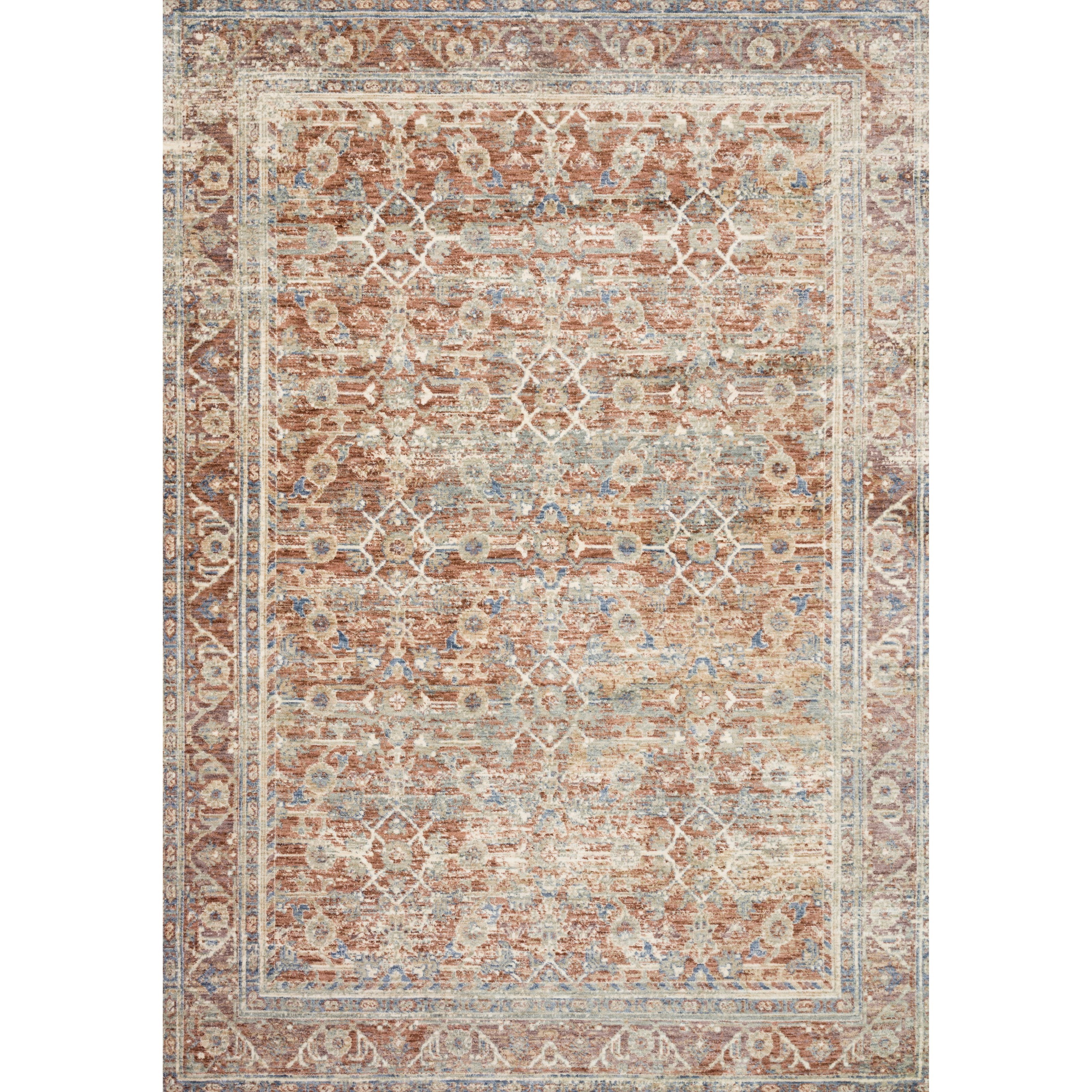 """Revere 1'6"""" x 1'6""""  Terracotta / Multi Rug by Loloi Rugs at Virginia Furniture Market"""