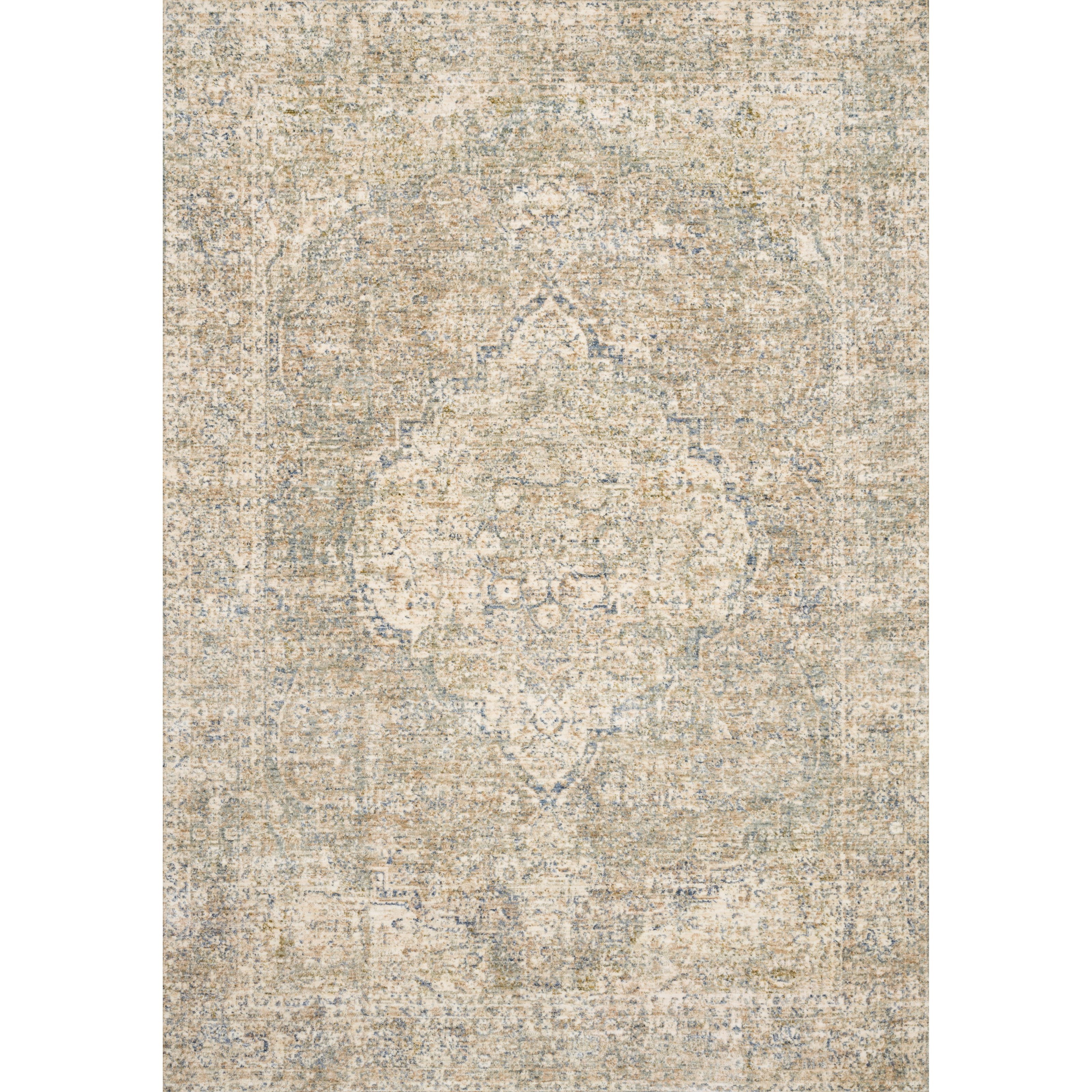 """Revere 11'6"""" x 15'6"""" Granite / Blue Rug by Loloi Rugs at Virginia Furniture Market"""