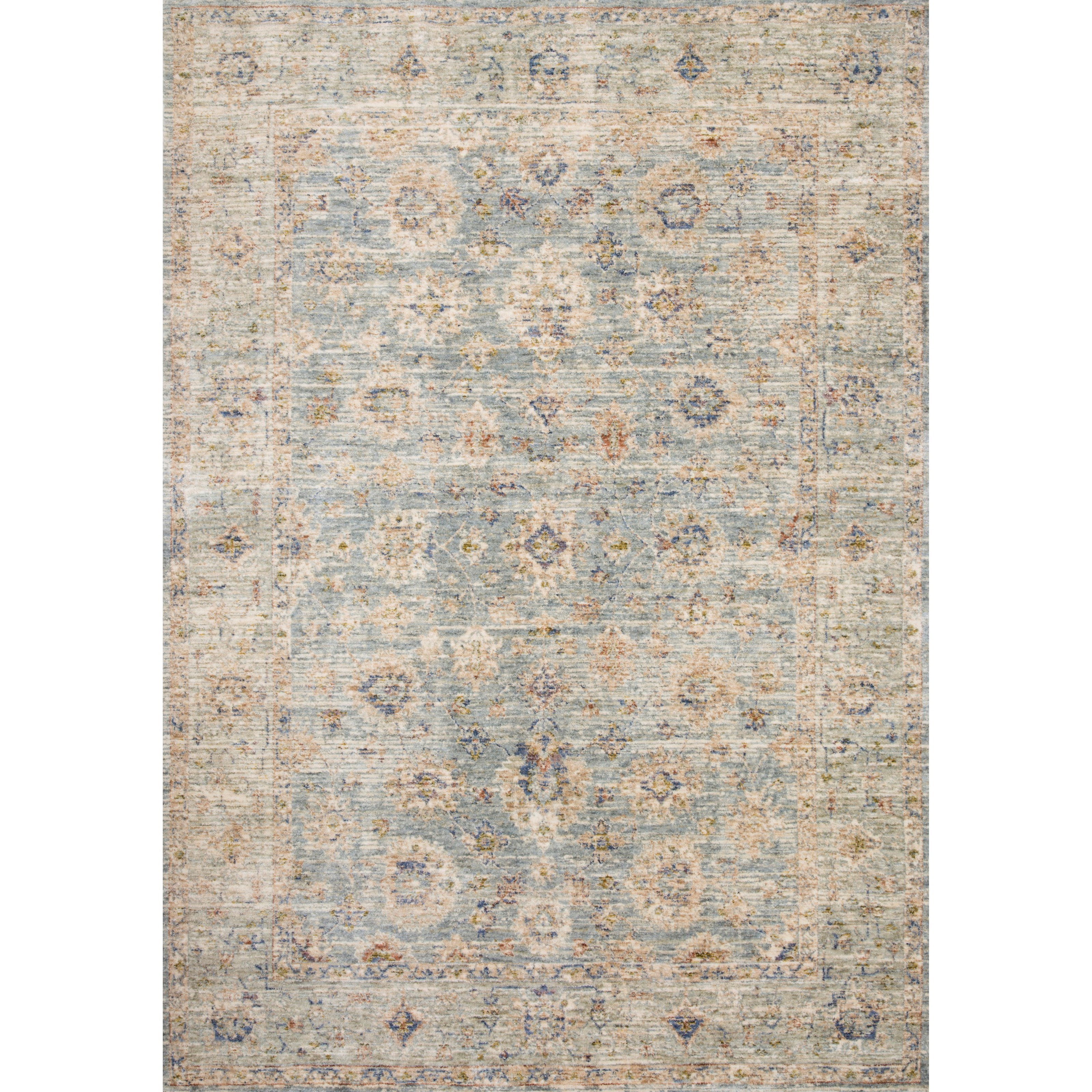 """Revere 7'10"""" x 10' Light Blue / Multi Rug by Loloi Rugs at Virginia Furniture Market"""