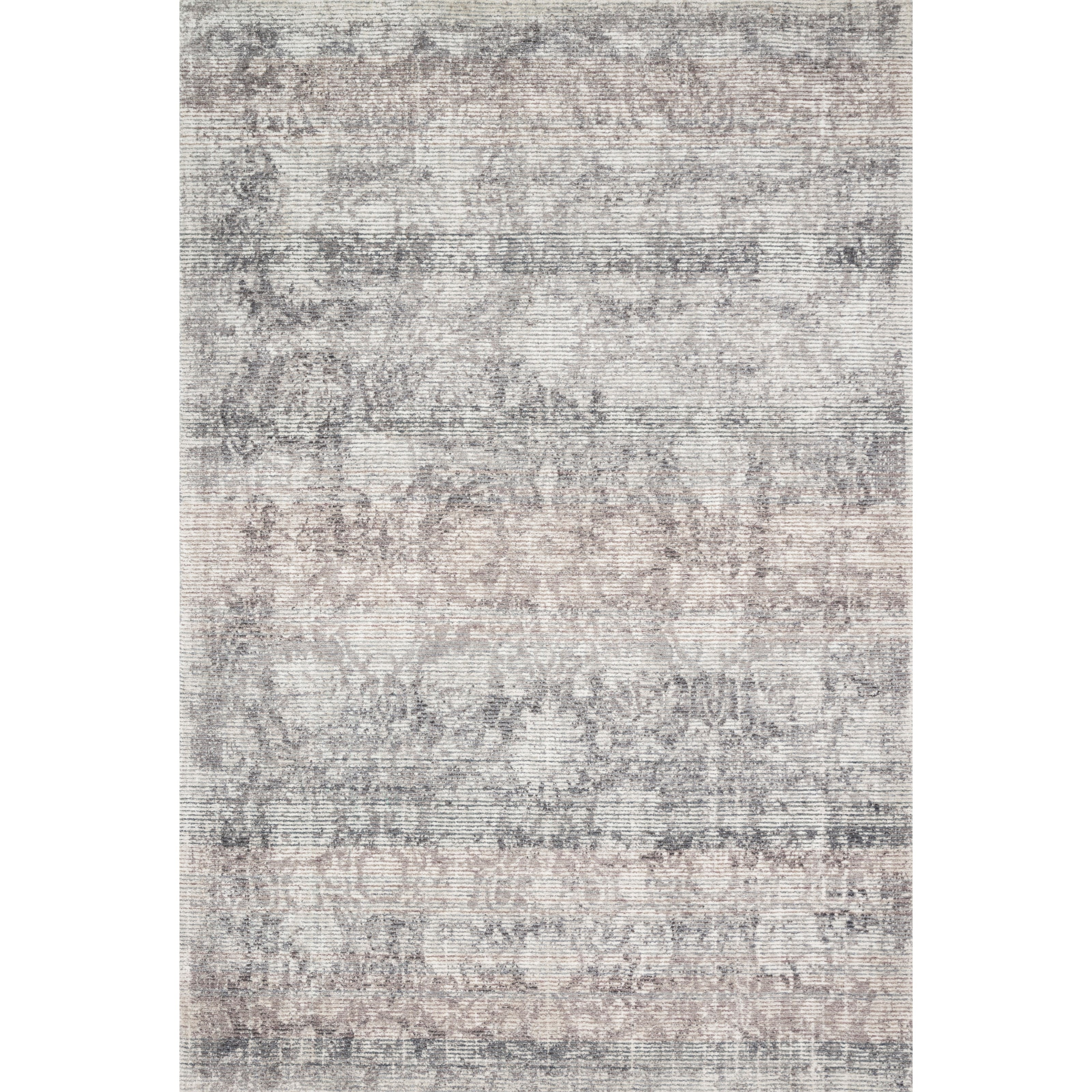 """Rumi 5'0"""" x 7'6"""" Pewter Rug by Loloi Rugs at Virginia Furniture Market"""