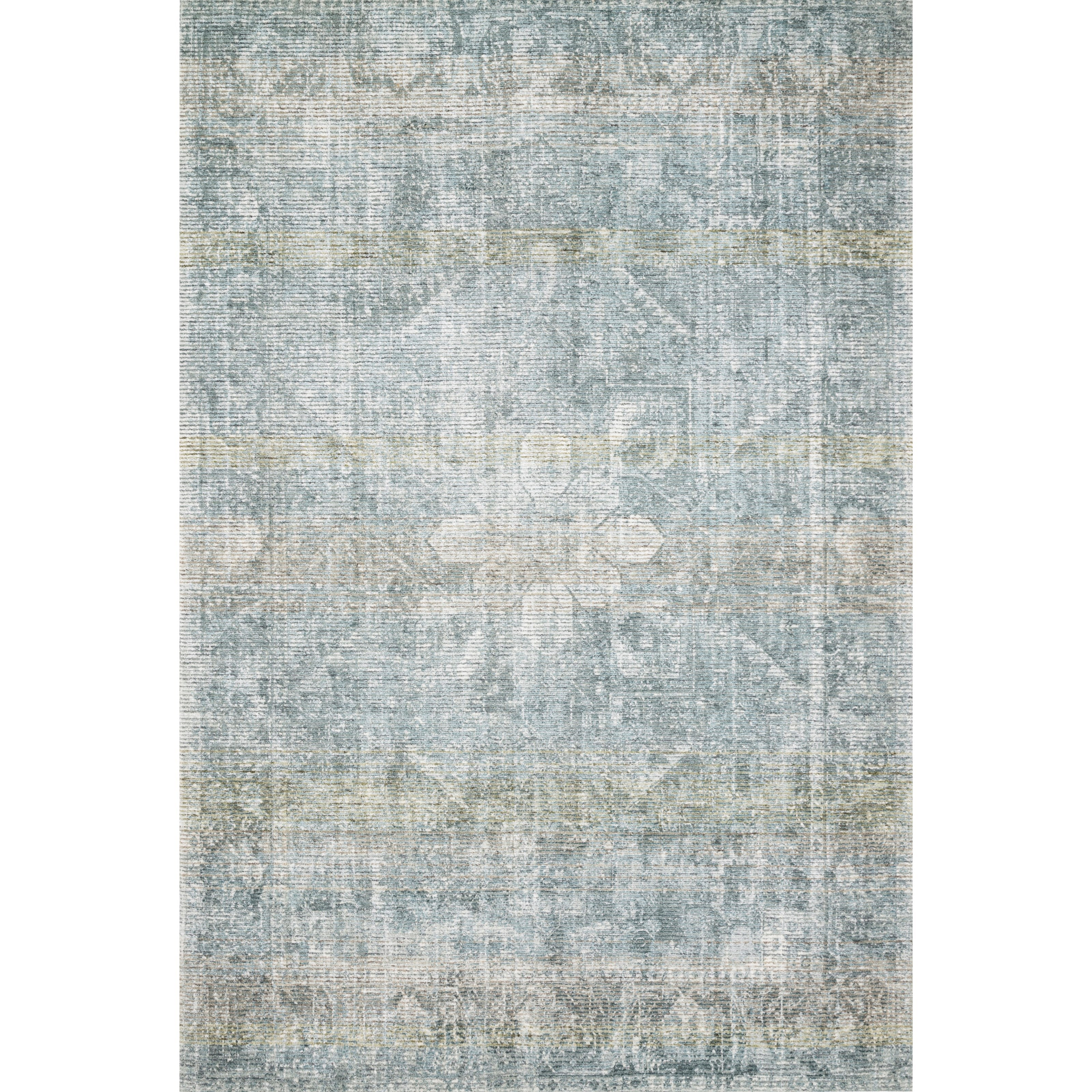 "Rumi 9'3"" x 13' Teal Rug by Loloi Rugs at Virginia Furniture Market"