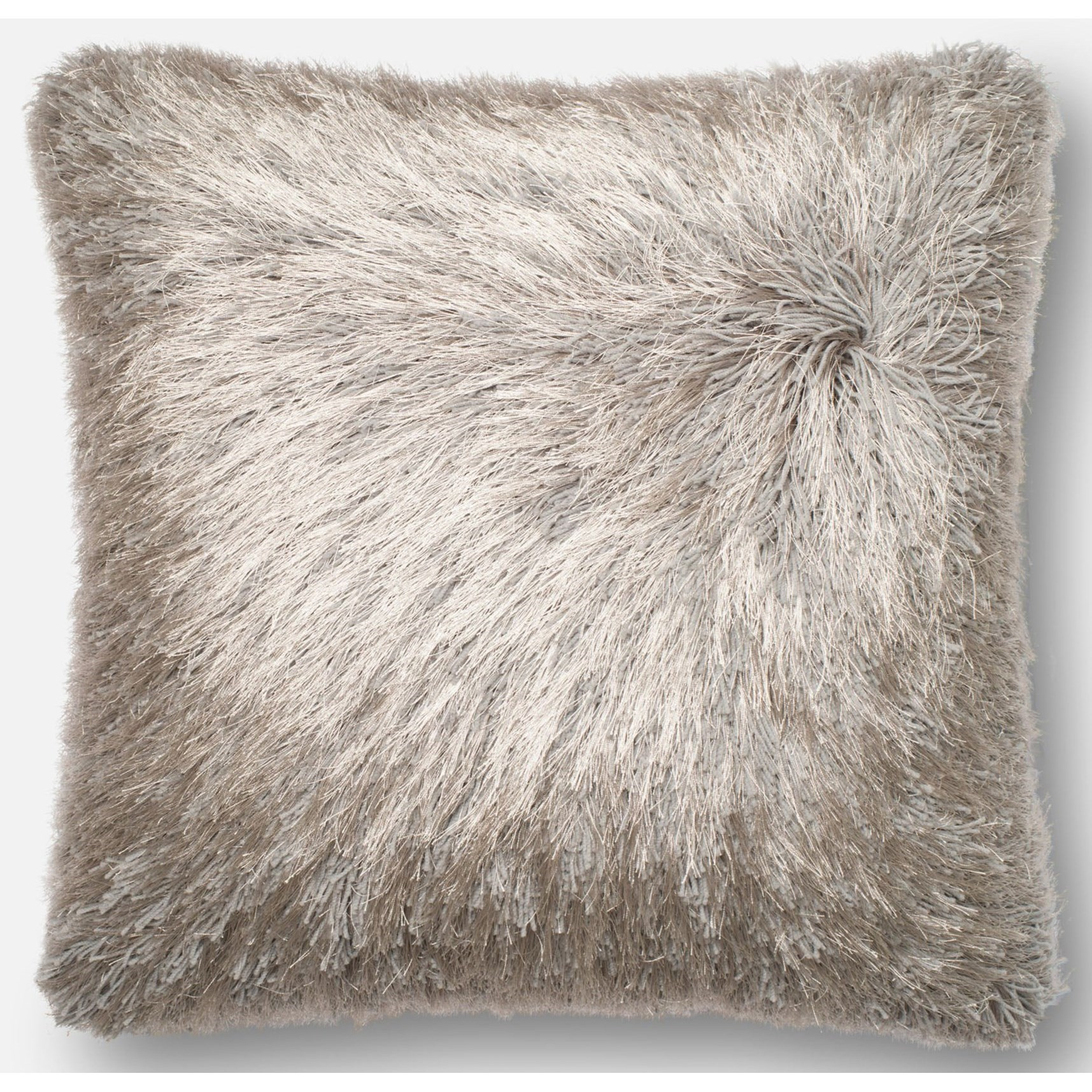 "Shag 22"" X 22"" Down Pillow by Loloi Rugs at Sprintz Furniture"